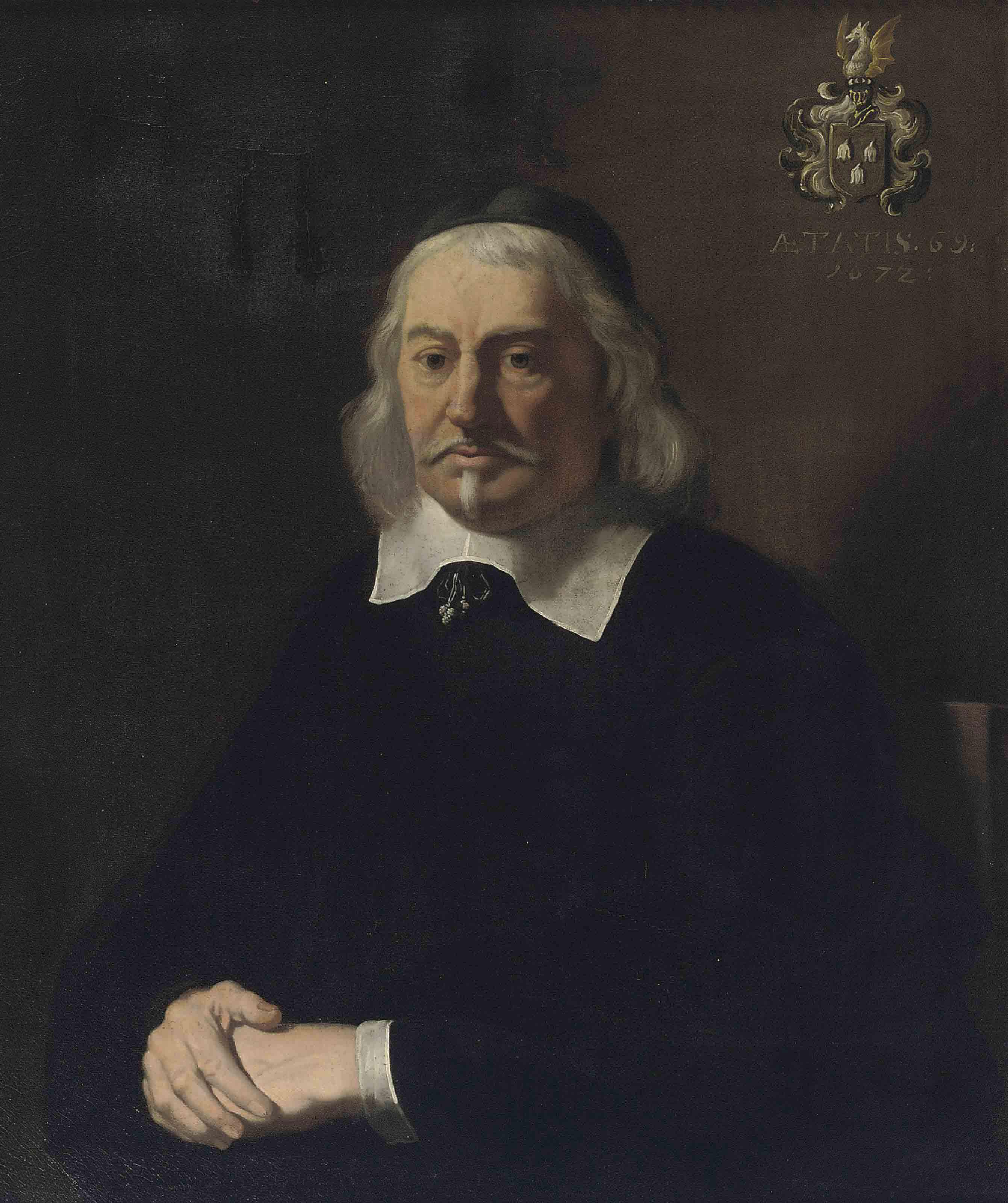 Portrait of Abraham Velters (1603-1690), half-length, wearing a skullcap