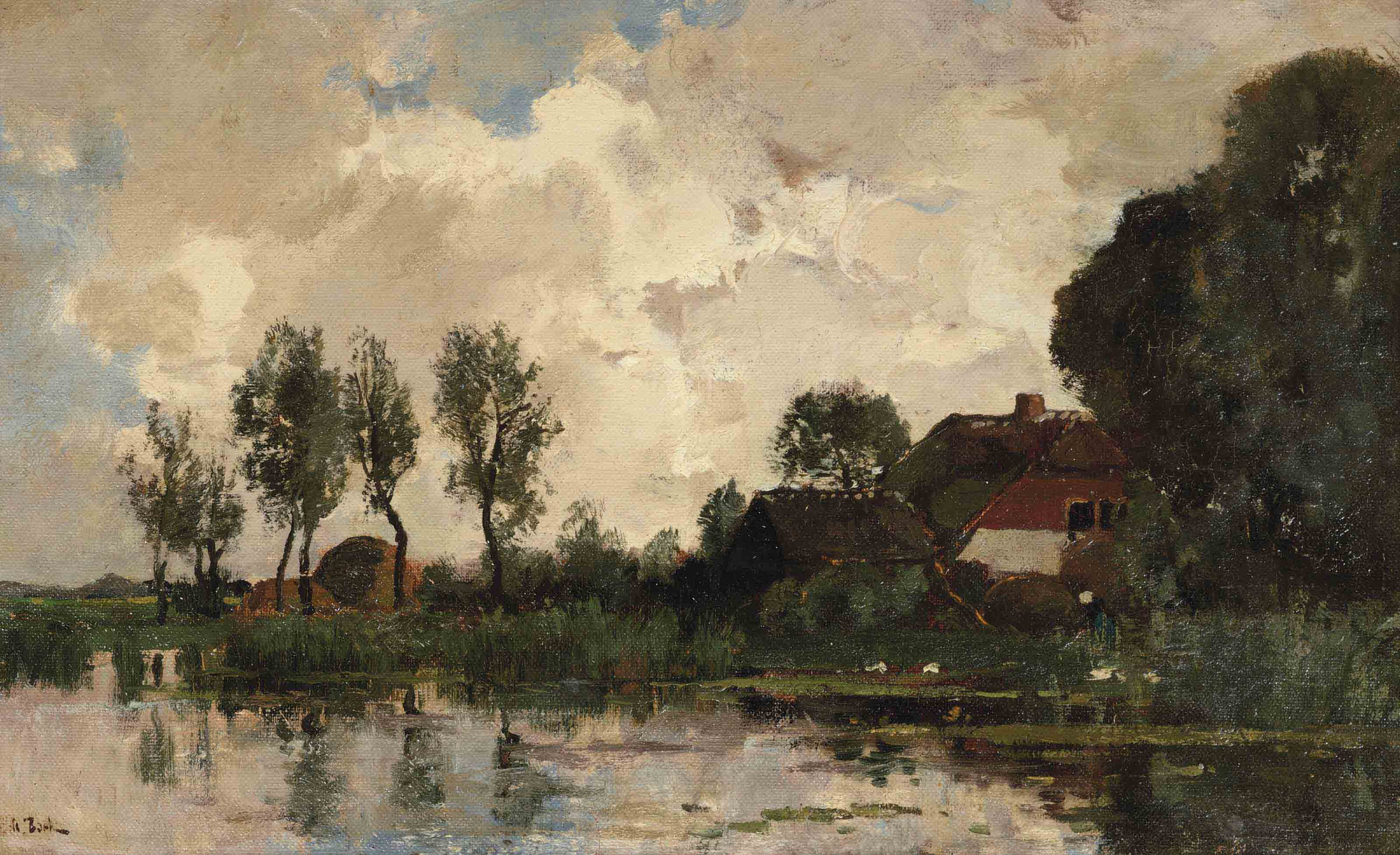 A farm in the polder