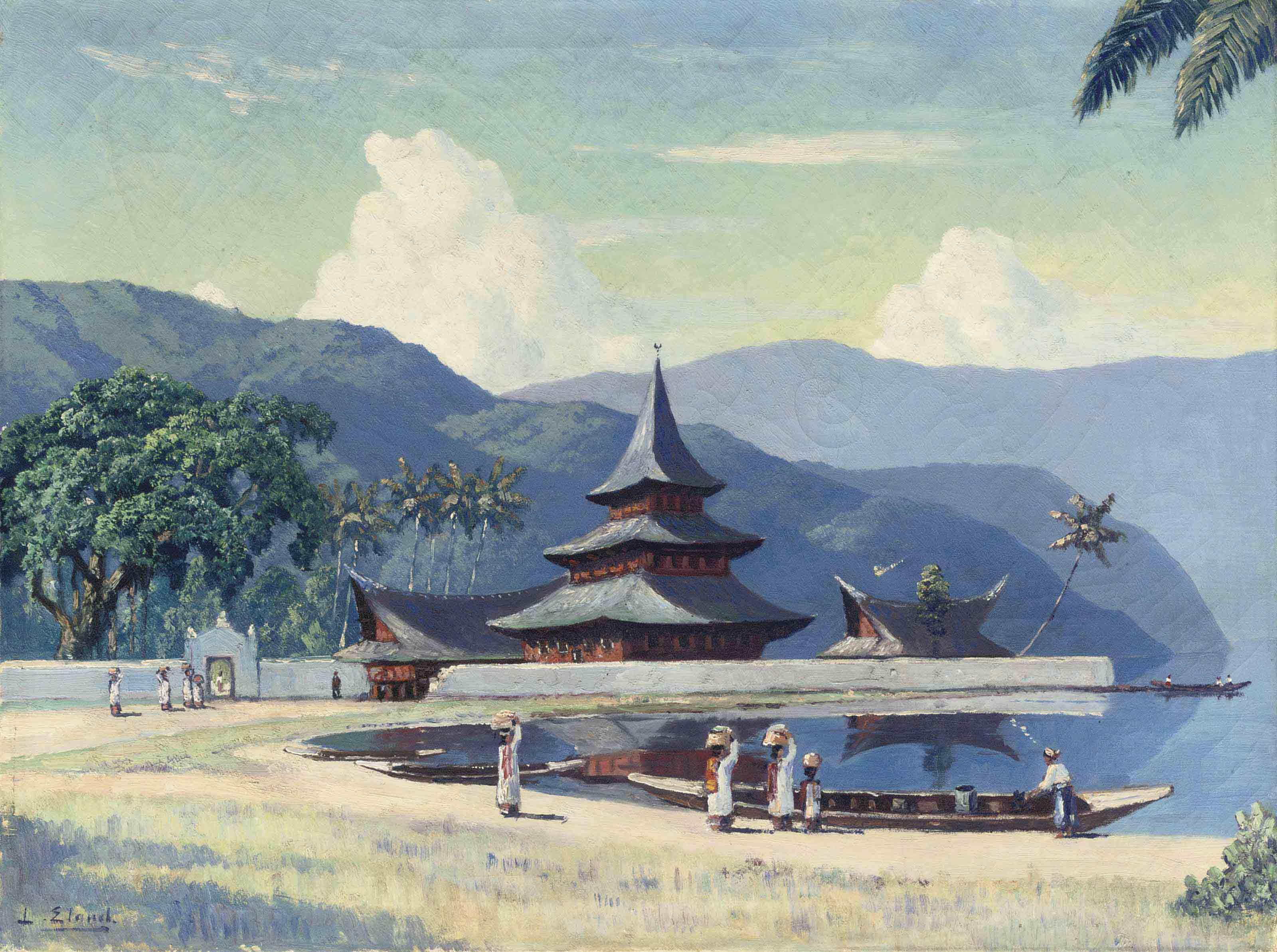 Daily life around the pagoda