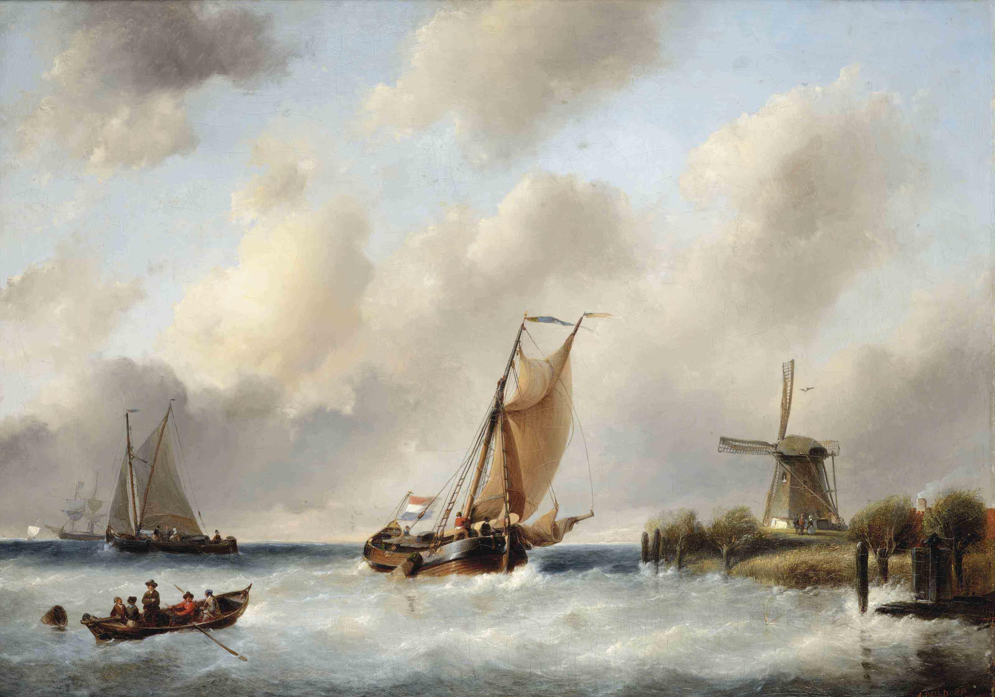 Ships in a stiff breeze