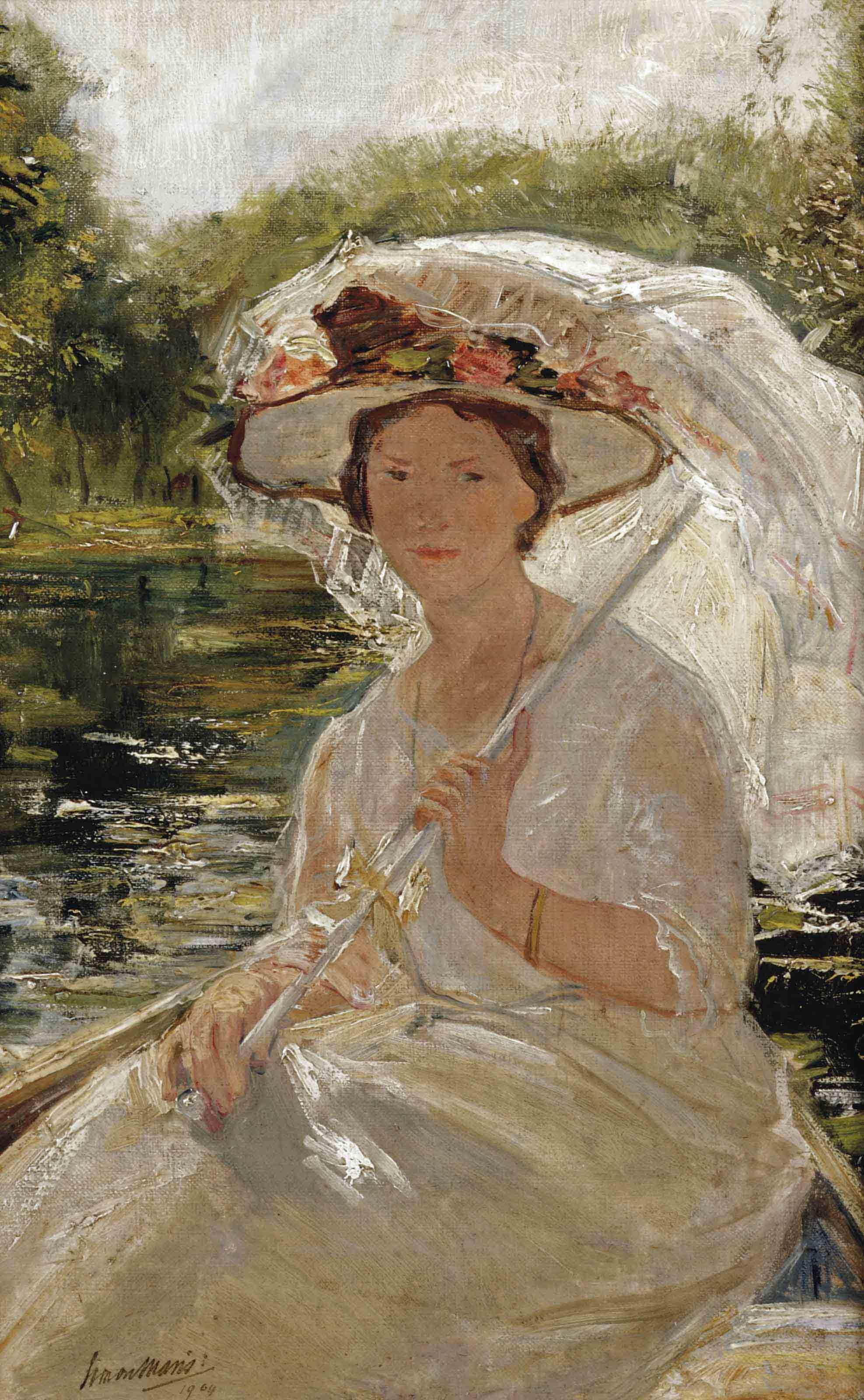 Elegant woman with an umbrella