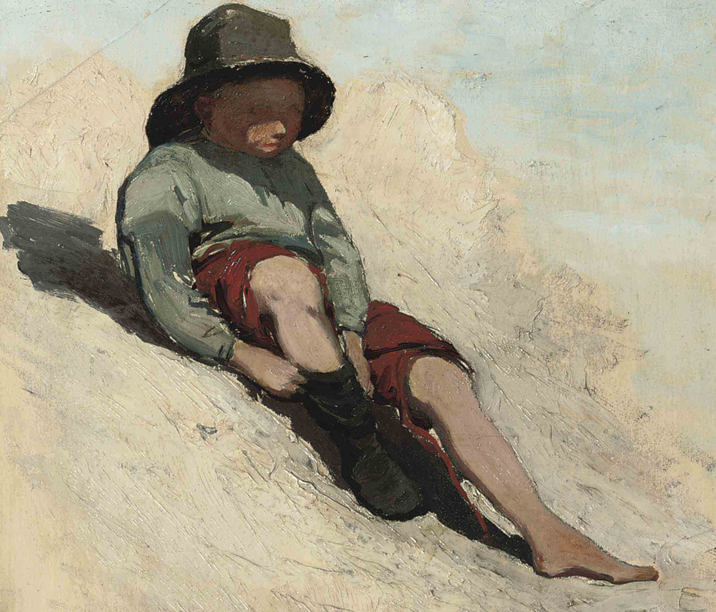 Little boy in the dunes