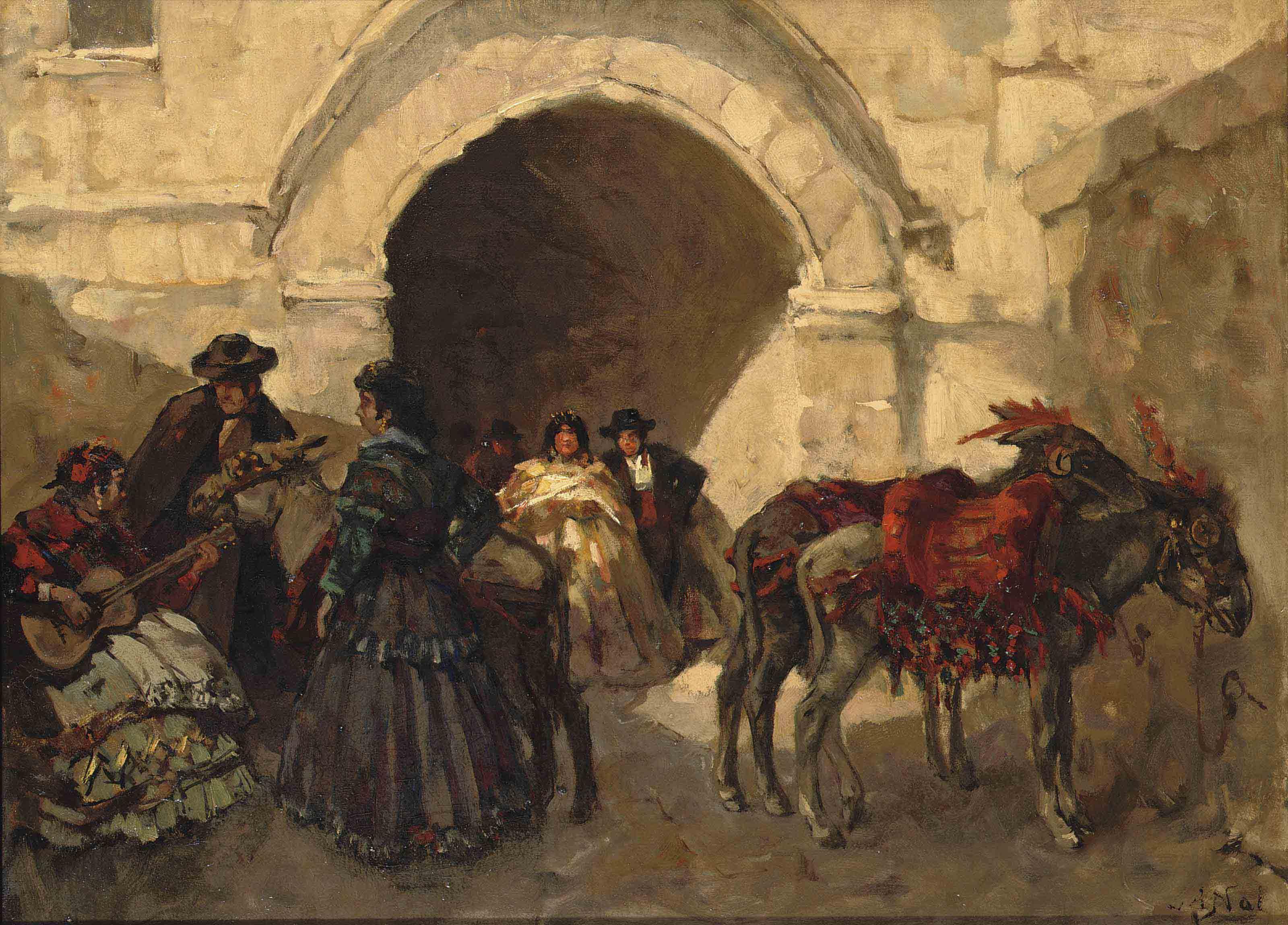 Festivities in a Spanish village