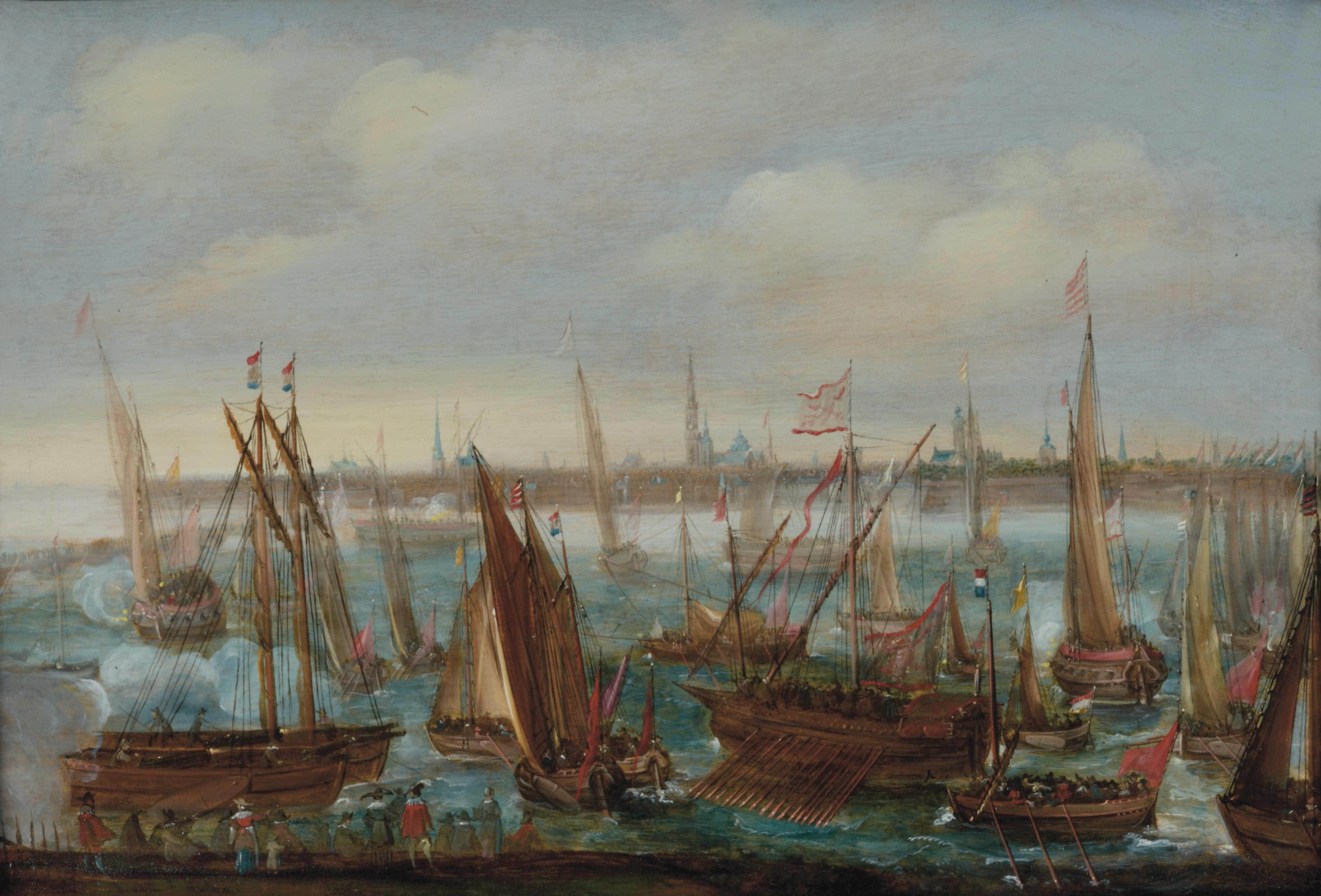 View of the port of Antwerp during the Celebrations of the Taking of Breda