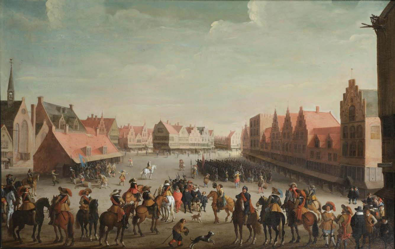 The disbanding of the Waardgelders by Prince Maurits on the Neude at Utrecht, 31 July 1618