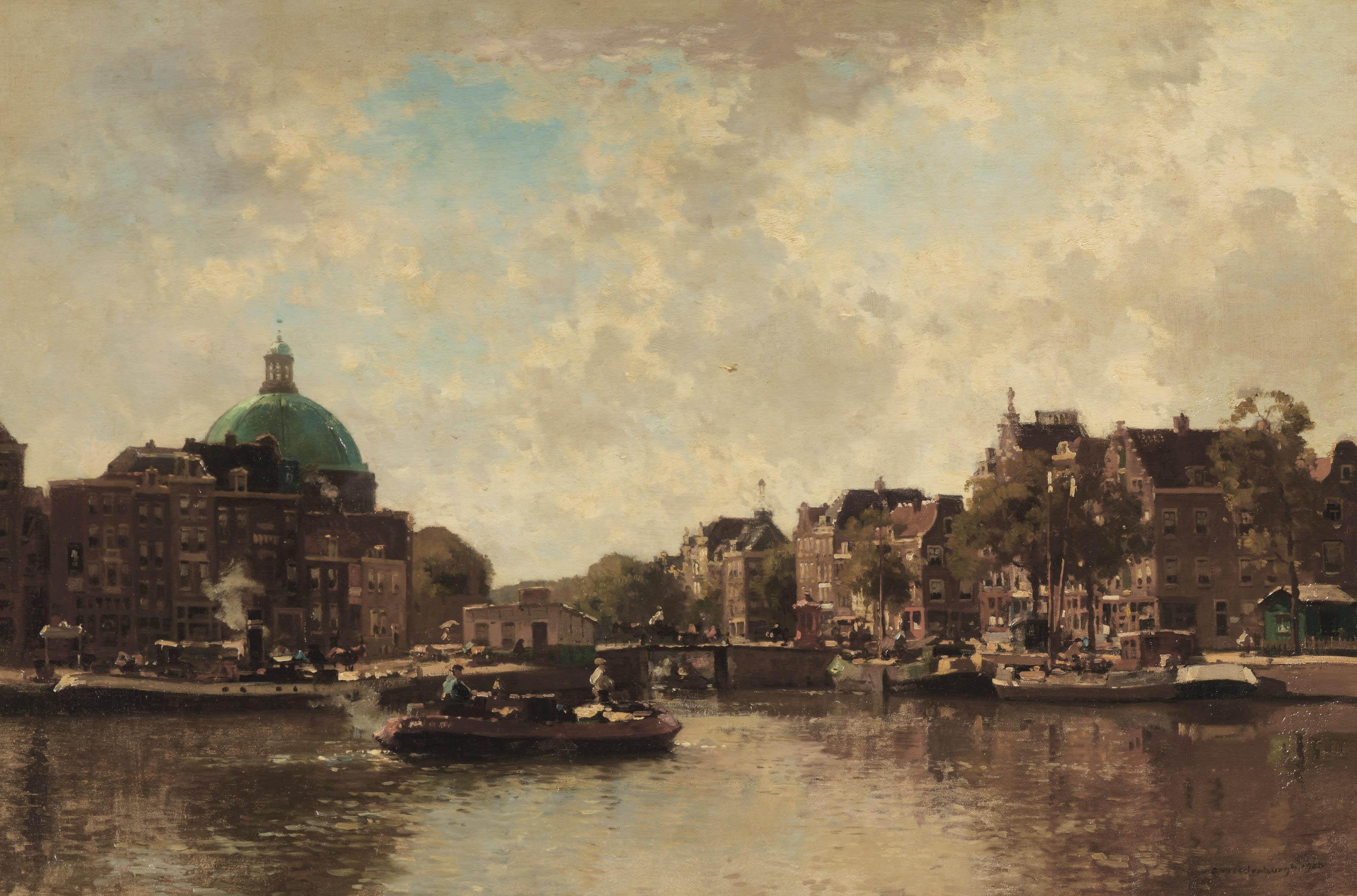 View of the Singel with the Koepelkerk beyond, Amsterdam