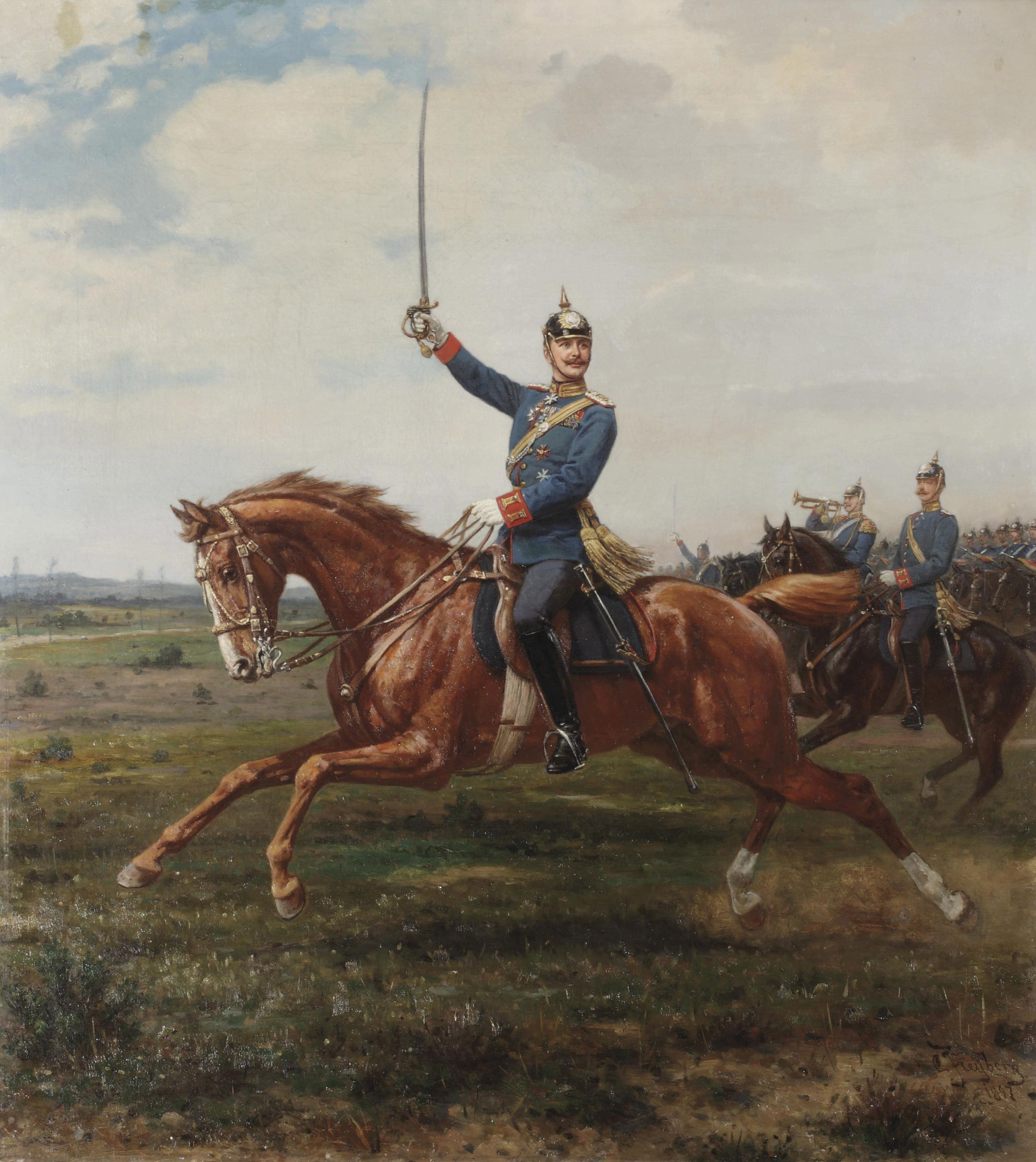 Lieutenant Kunz von Katzler on horseback