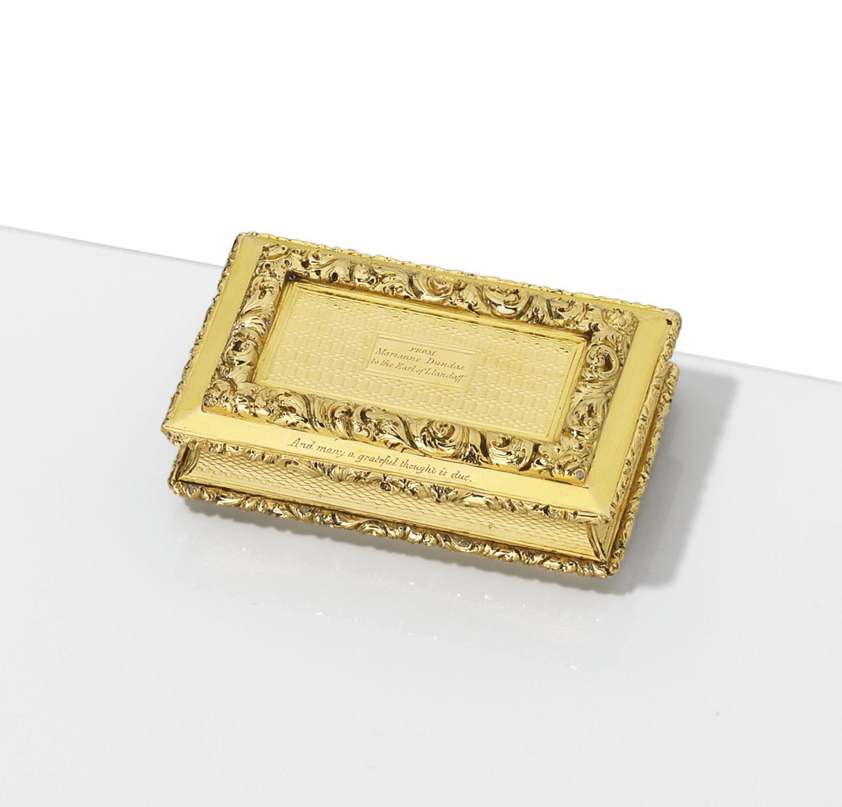 A GEORGE IV GOLD SNUFF-BOX