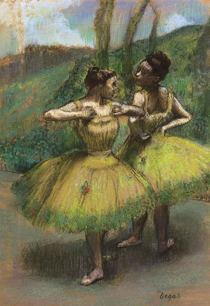 Danseuses jupes jaunes (Deux danseuses en jaune)