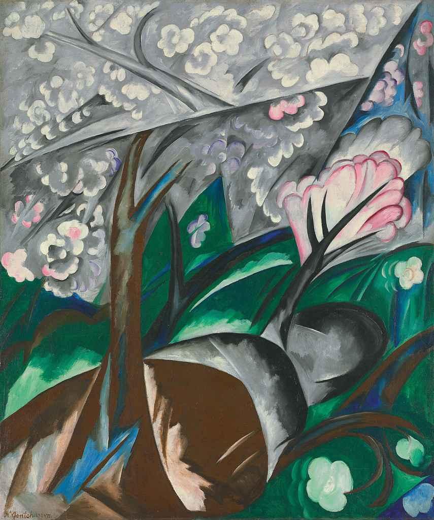 Les arbres en fleurs (Pommiers en fleurs)