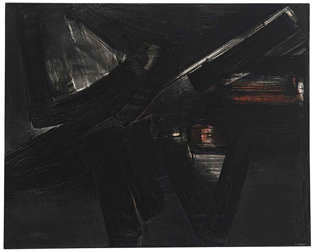 Peinture 130 x 162 cm, 3 avril 1955