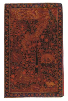 A LARGE SAFAVID-STYLE LACQUER