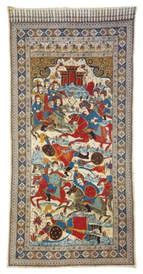 A QAJAR PAINTED AND PRINTED CO