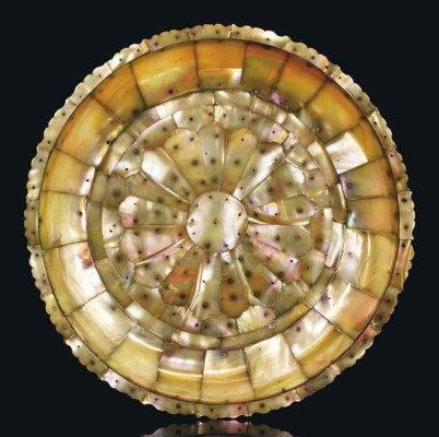 A MOTHER-OF-PEARL DISH