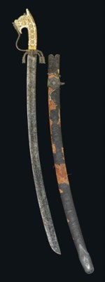 AN IVORY HILTED SWORD (NIMCHA)