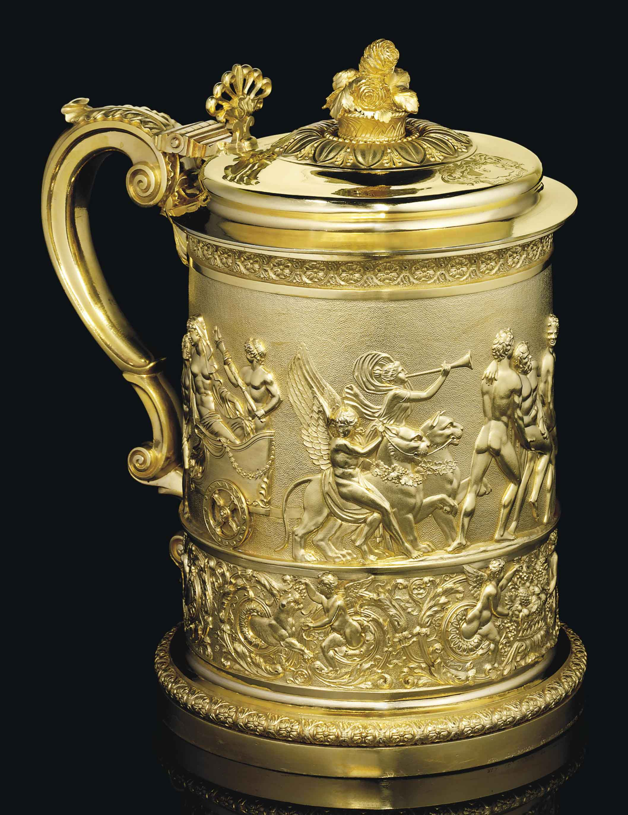 A GEORGE IV SILVER-GILT TANKARD FROM THE SUTTON SERVICE
