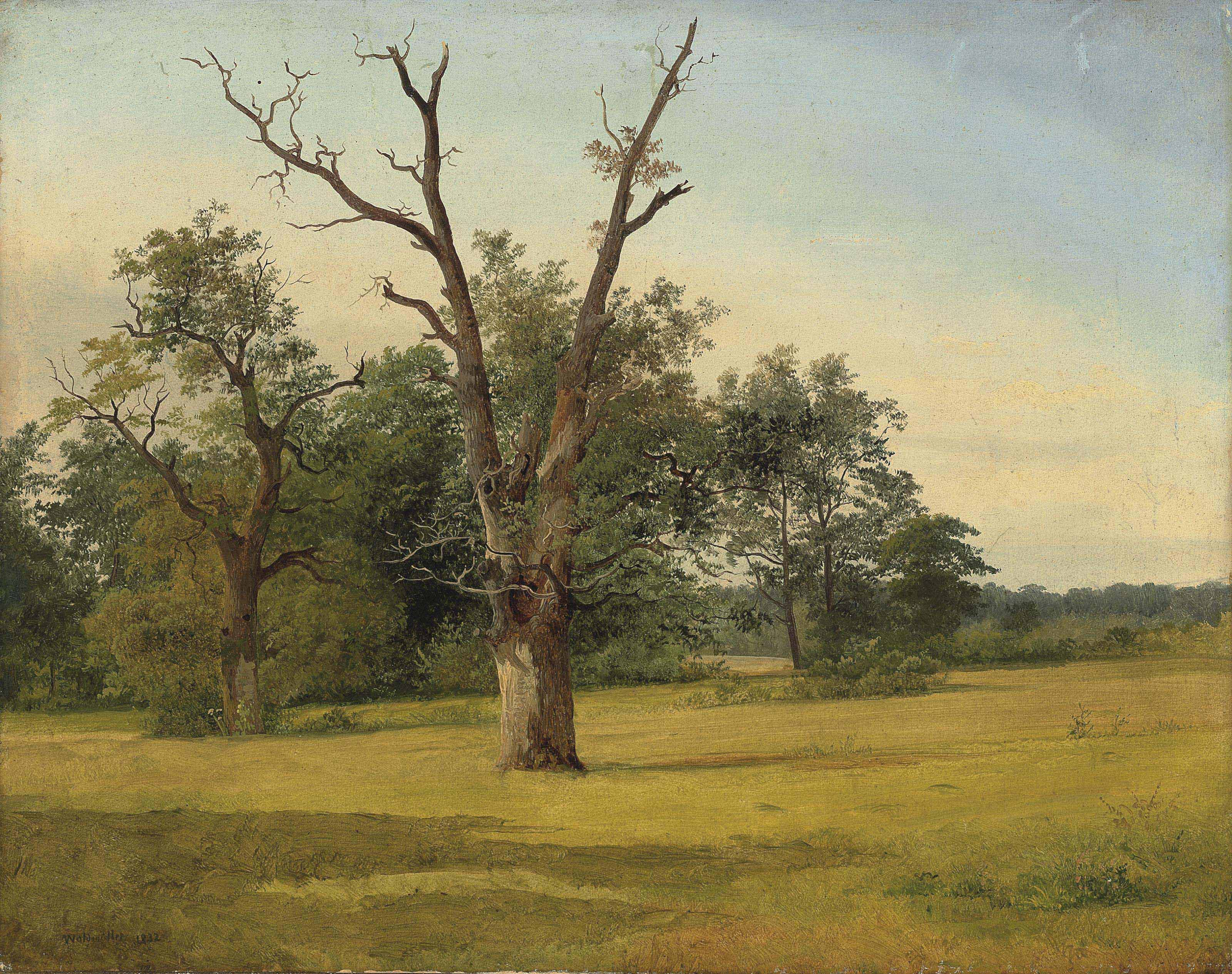 A landscape in the Prater, Vienna