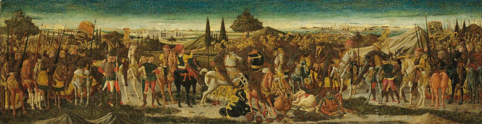 A battle scene: a cassone front