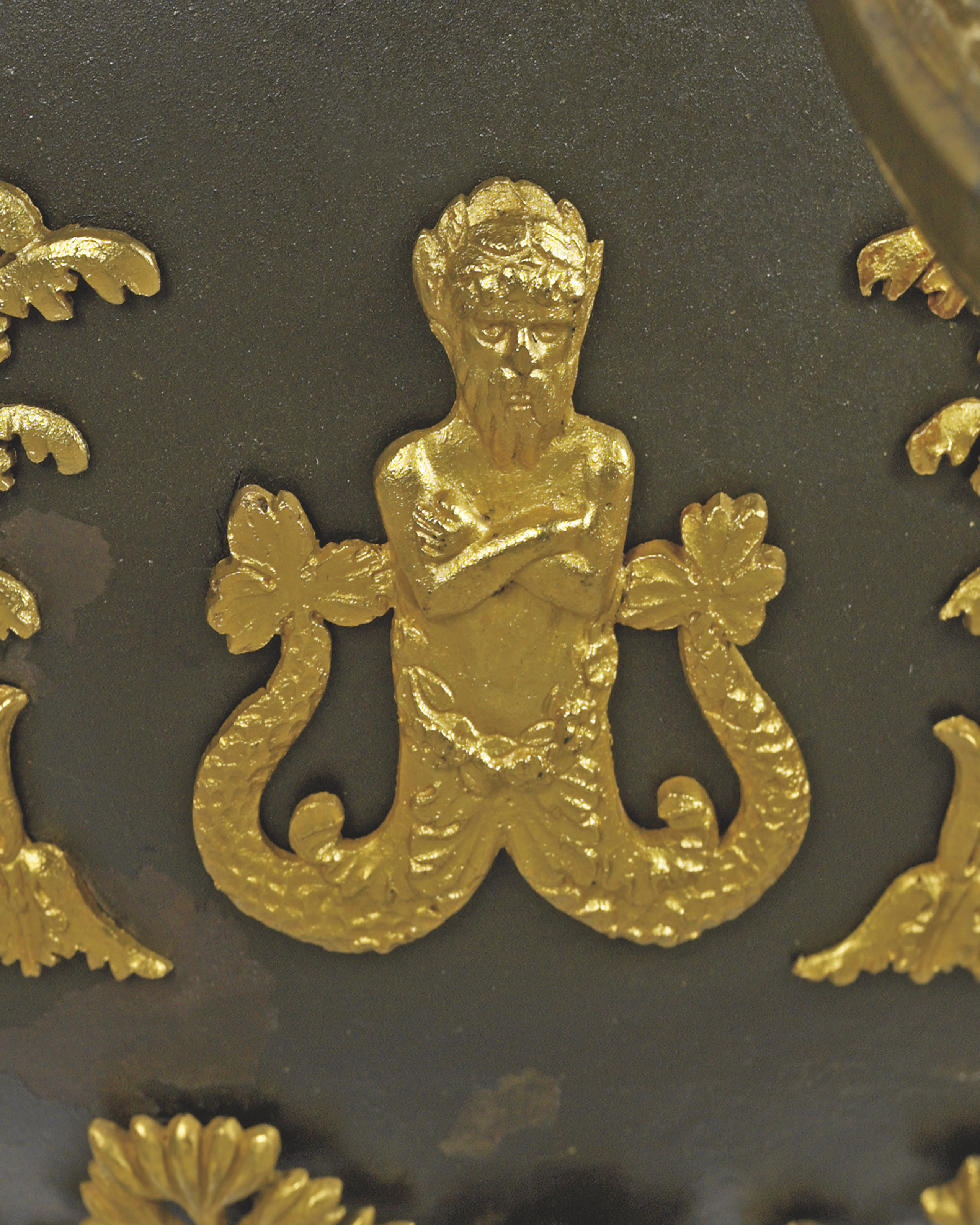 A RUSSIAN ORMOLU AND PATINATED
