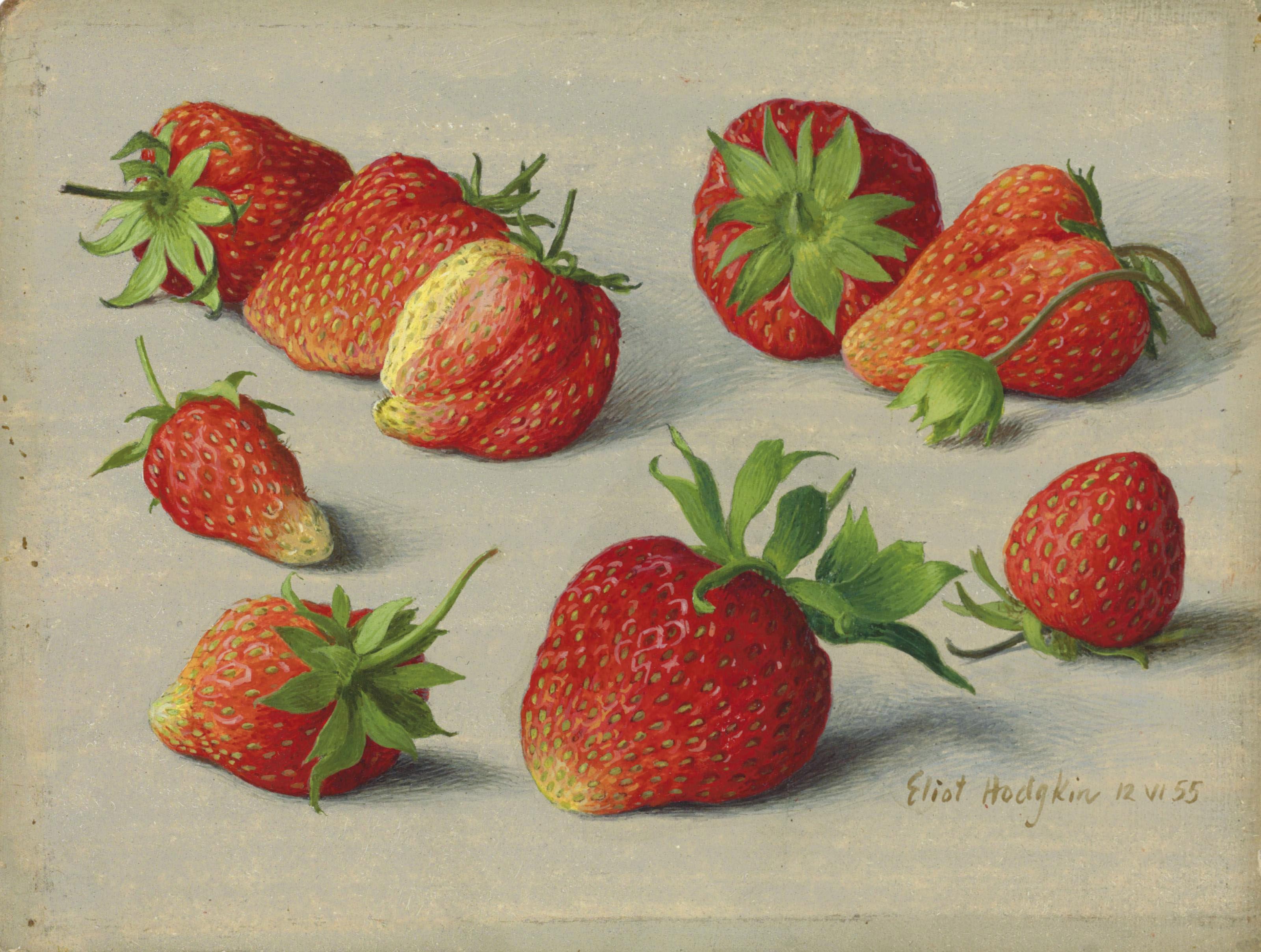 Nine strawberries