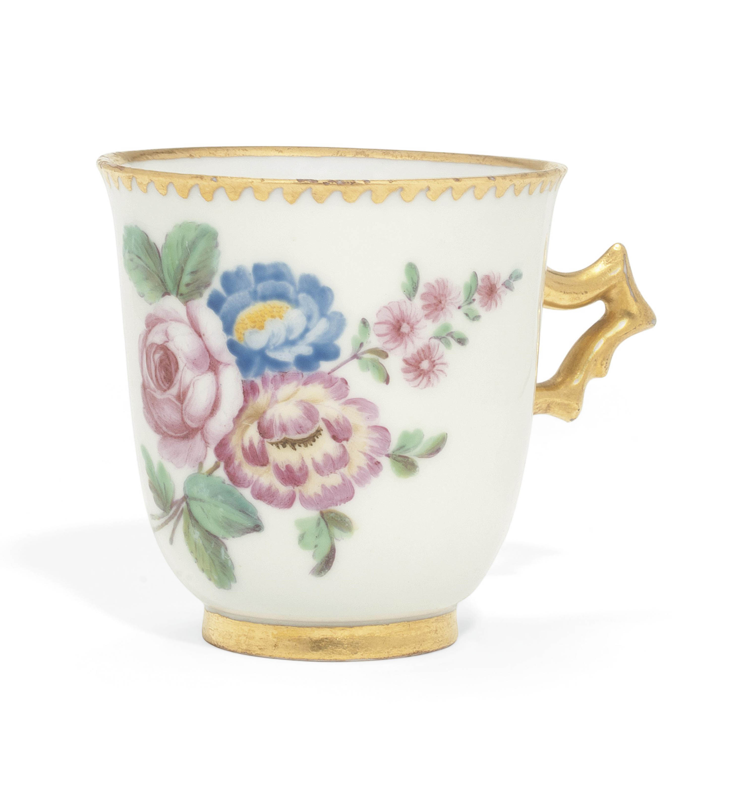 A NAPLES (REAL FABBRICA FERDINANDEA) CHOCOLATE-CUP