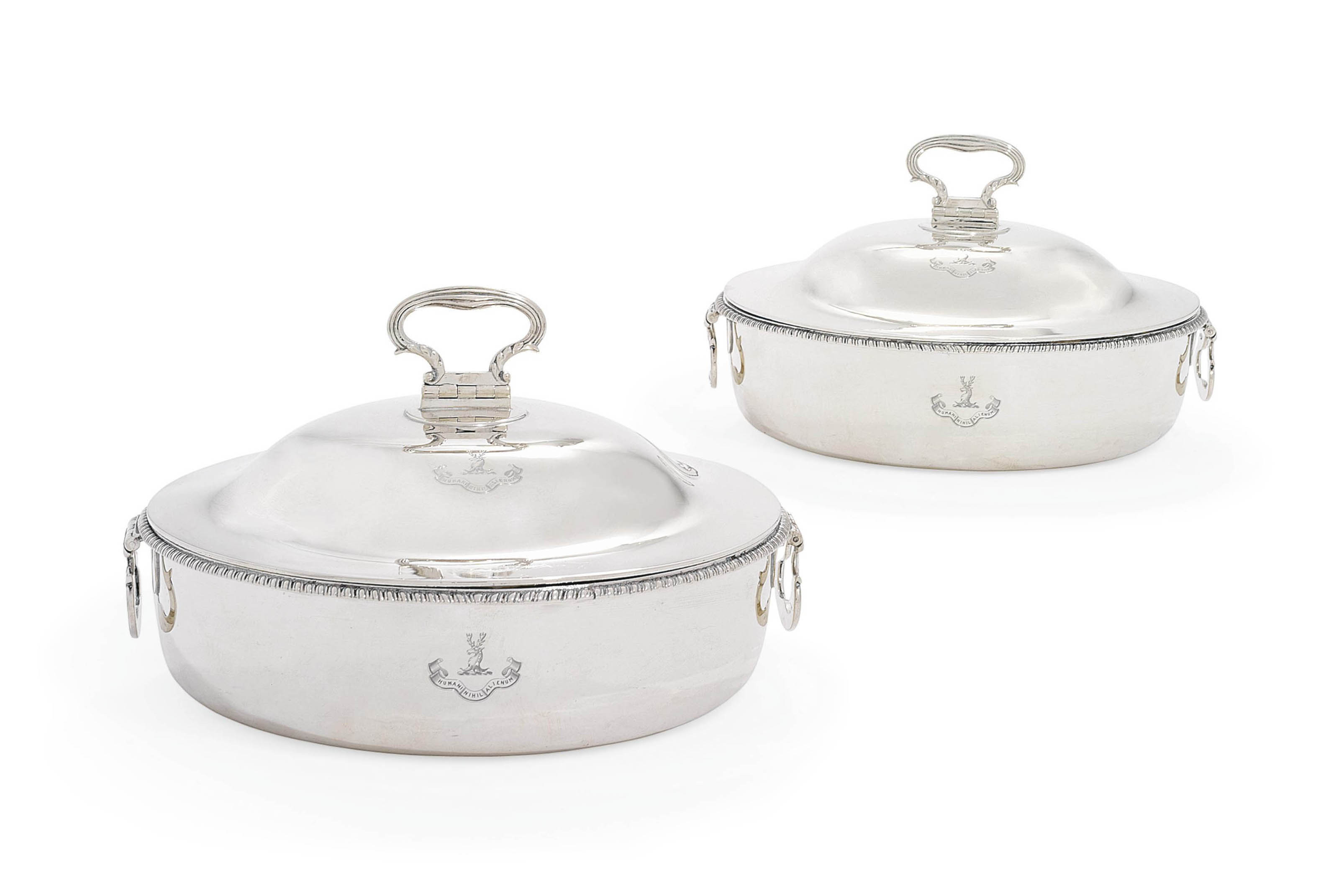 A PAIR OF GEORGE III SILVER VEGETABLE-DISHES AND COVERS