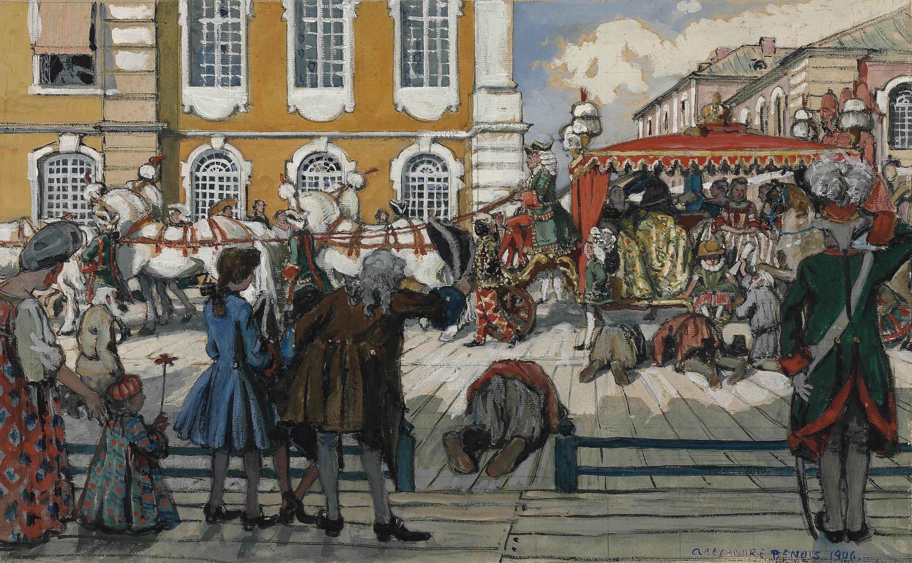 The promenade of Empress Elizaveta Petrovna