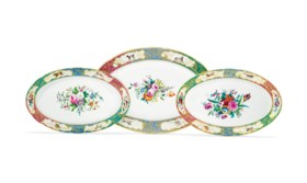 THREE PORCELAIN SERVING PLATTERS FROM THE SERVICE OF GRAND D