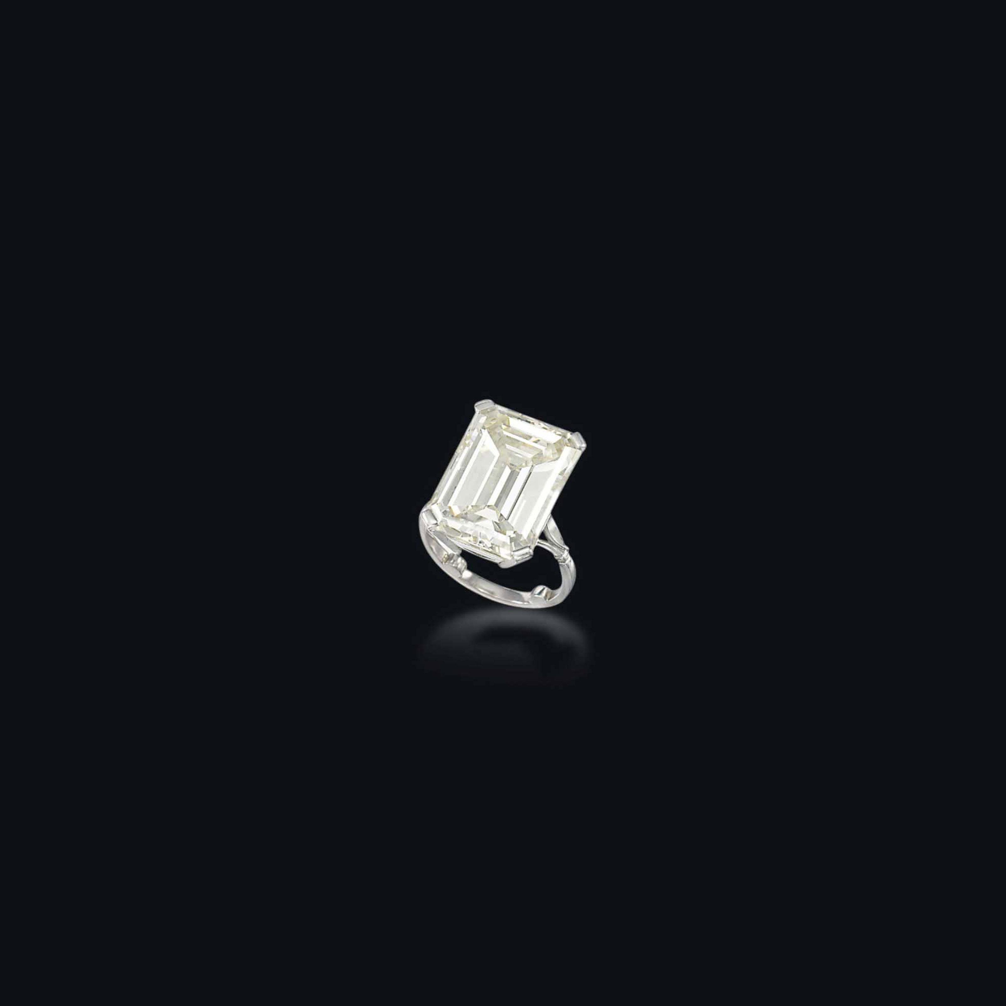 AN IMPRESSIVE DIAMOND SINGLE-STONE RING, BY GUBELIN
