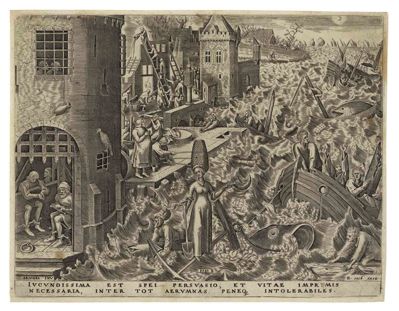 Spes, from: The Seven Virtues (Hollstein 133; Lari 128; New Hollstein 14)