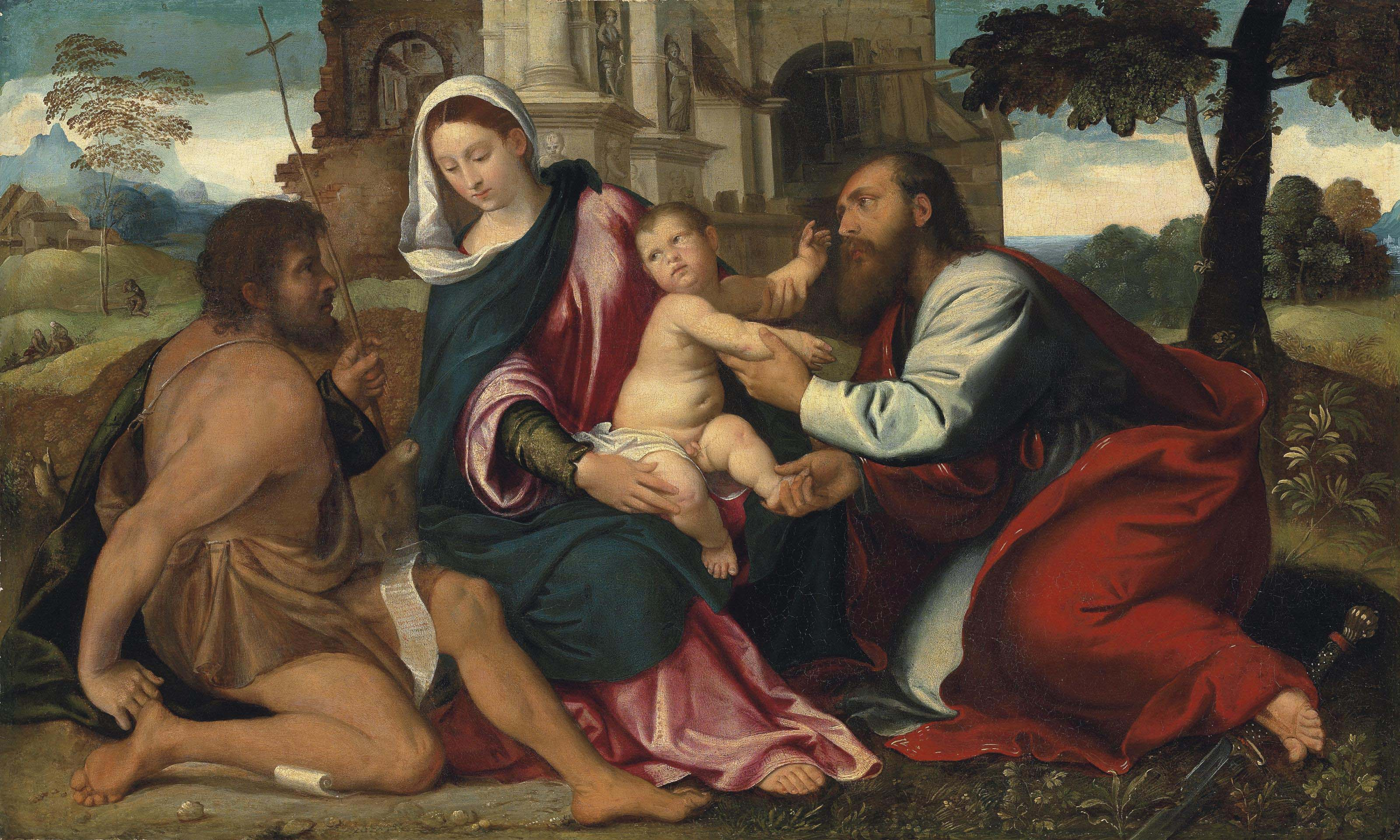 The Madonna and Child with Saints John the Baptist and Paul