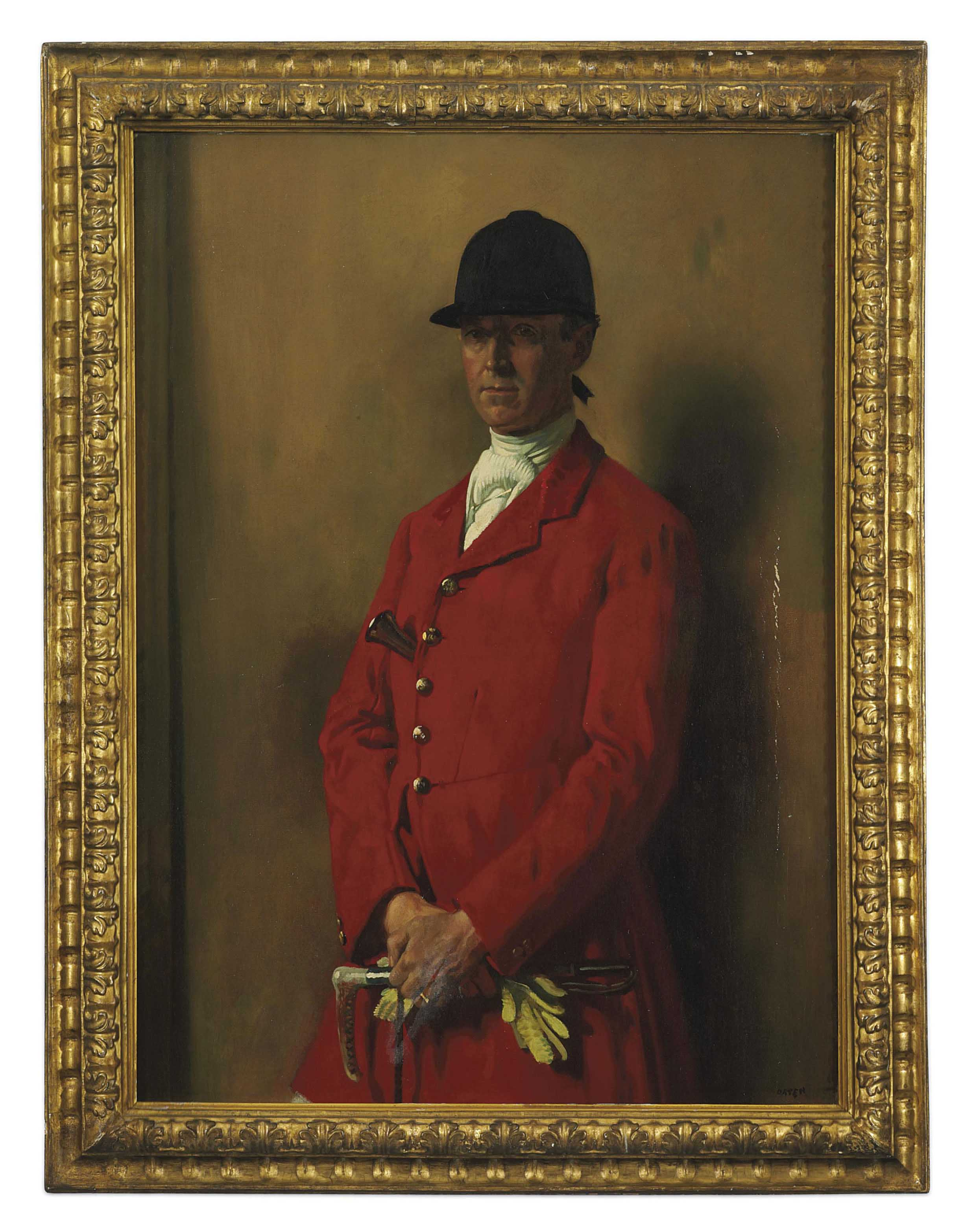 Portrait of Captain Marshall Roberts, Master of the South Notts Foxhounds