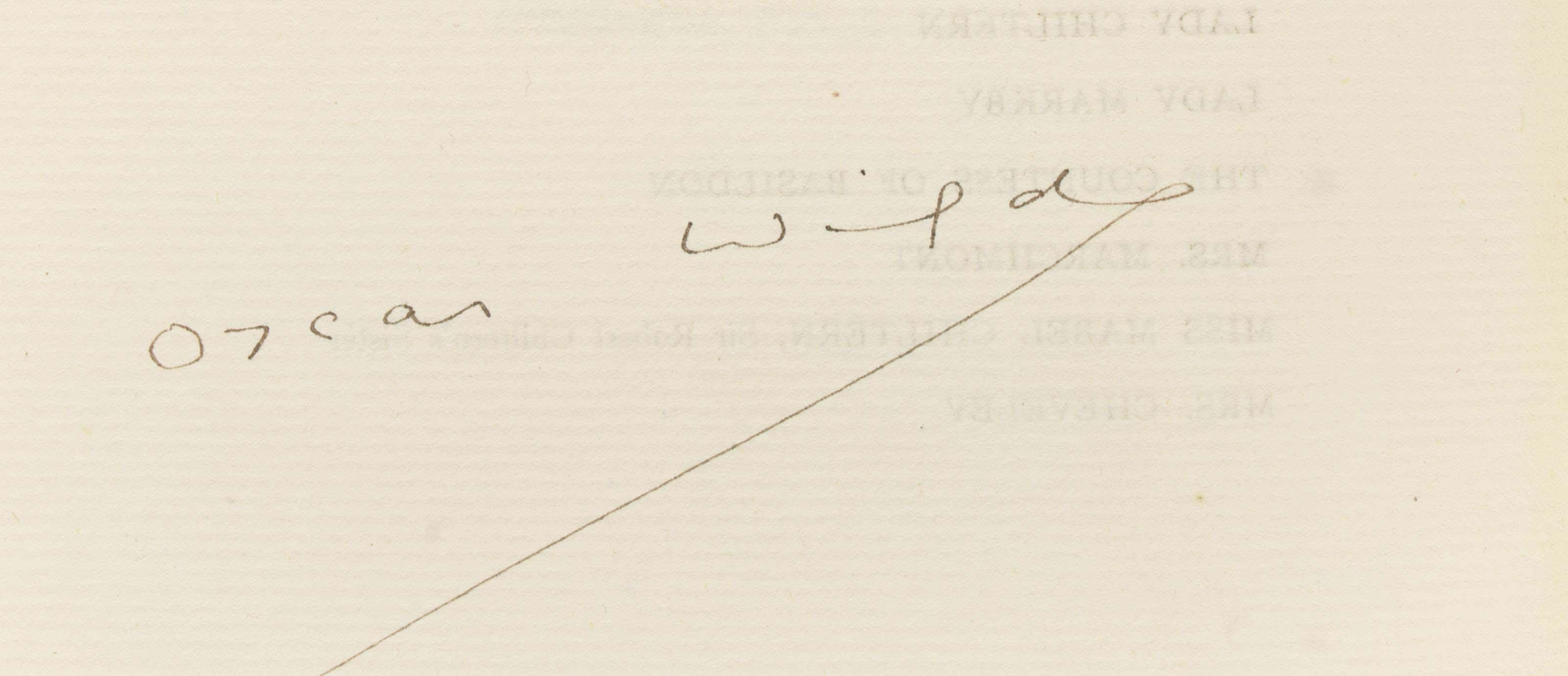WILDE, Oscar Fingal O'Flahertie Wills (1854-1900). An Ideal Husband. London: Leonard Smithers and Co., 1899.