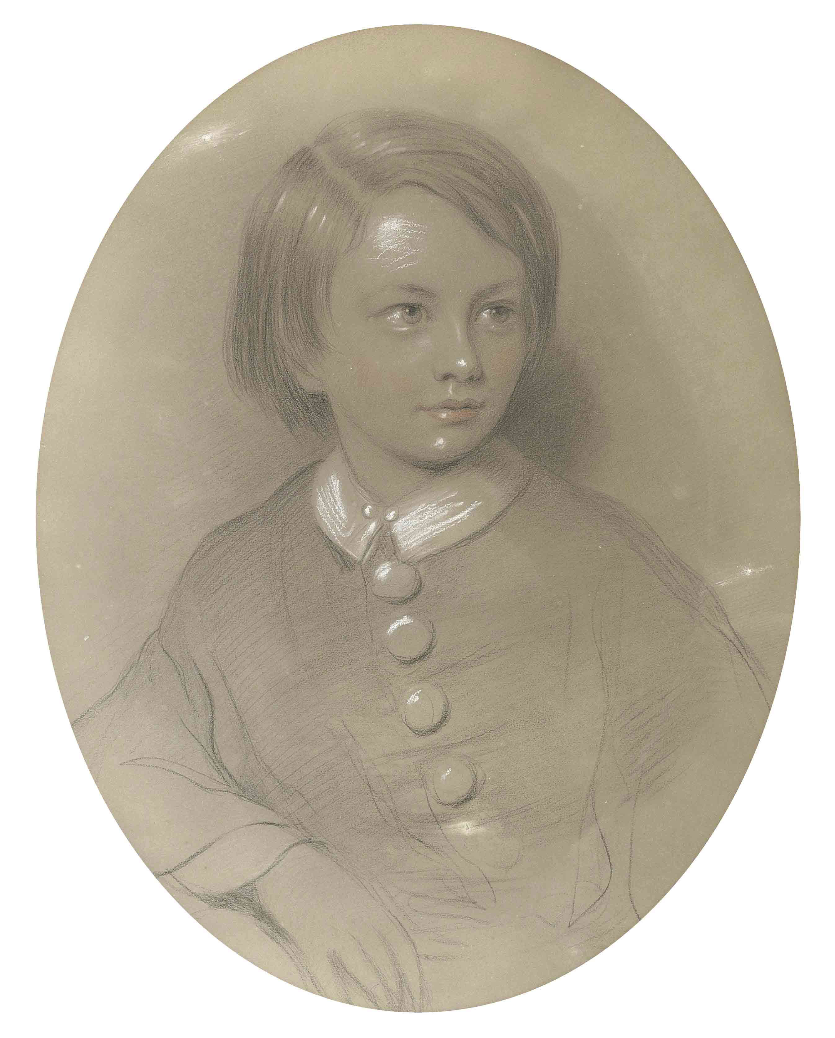 Portrait of John Luke George Hely-Hutchinson, 5th Earl of Donoughmore (1848-1900) as a child, half-length