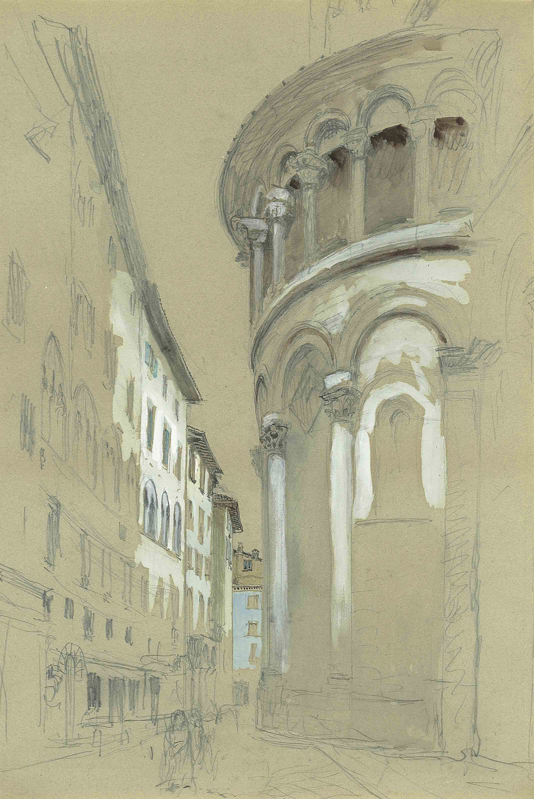 Apse at the east-end of the Cathedral of San Martino, Lucca, Italy