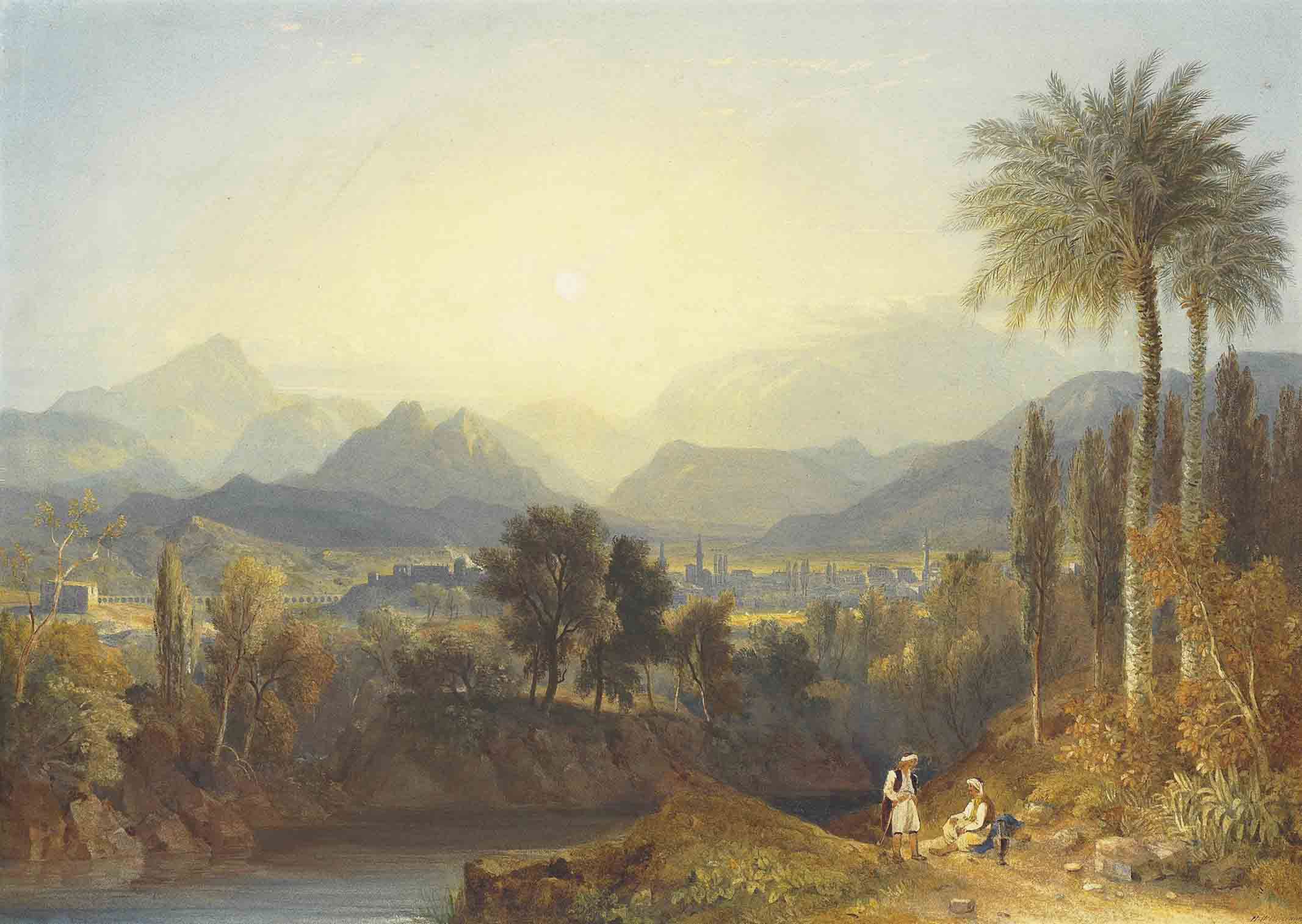 An extensive view of Thebes, Greece