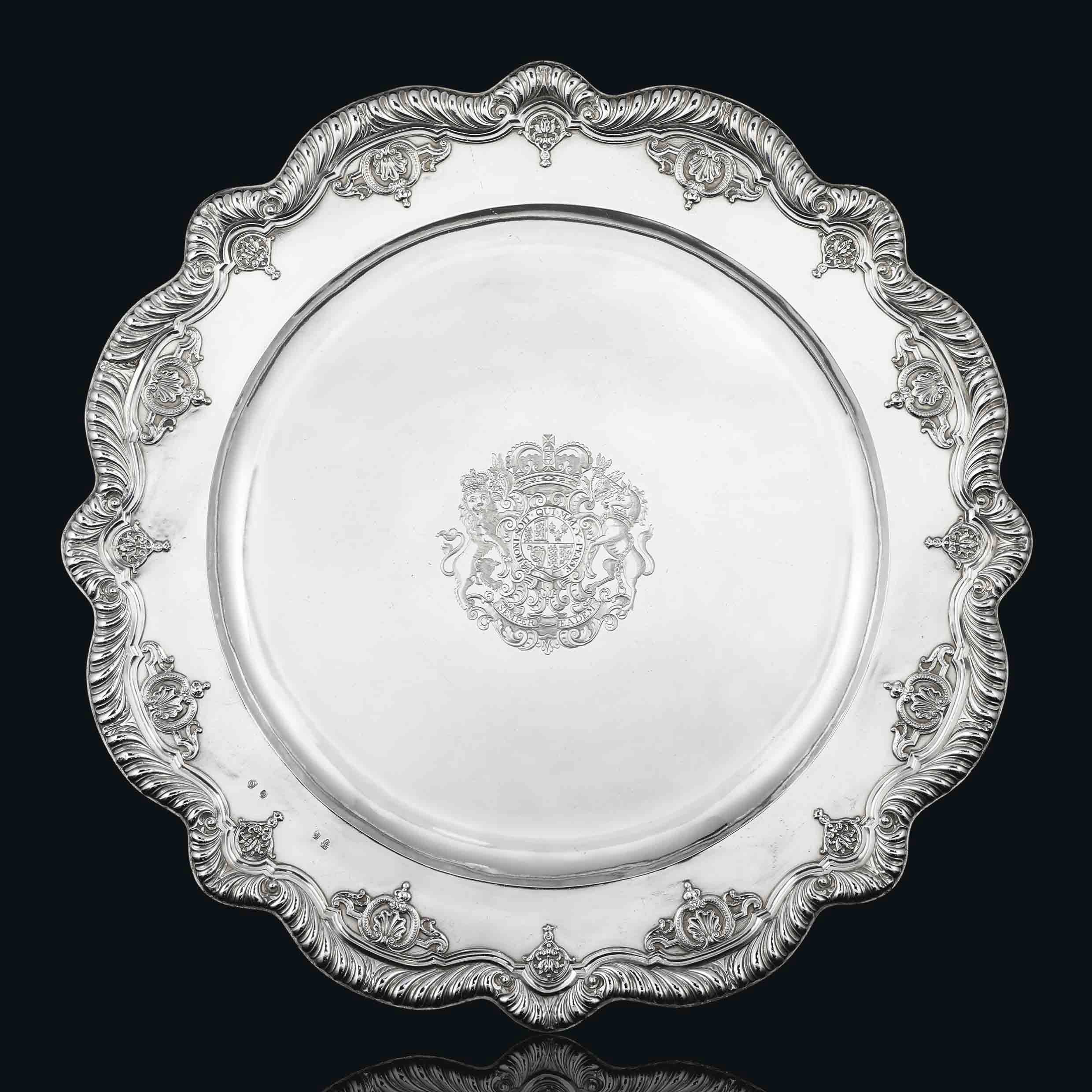 SPEAKER HANMER'S SIDEBOARD-DISH A QUEEN ANNE SILVER SIDEBOARD-DISH OR BASIN