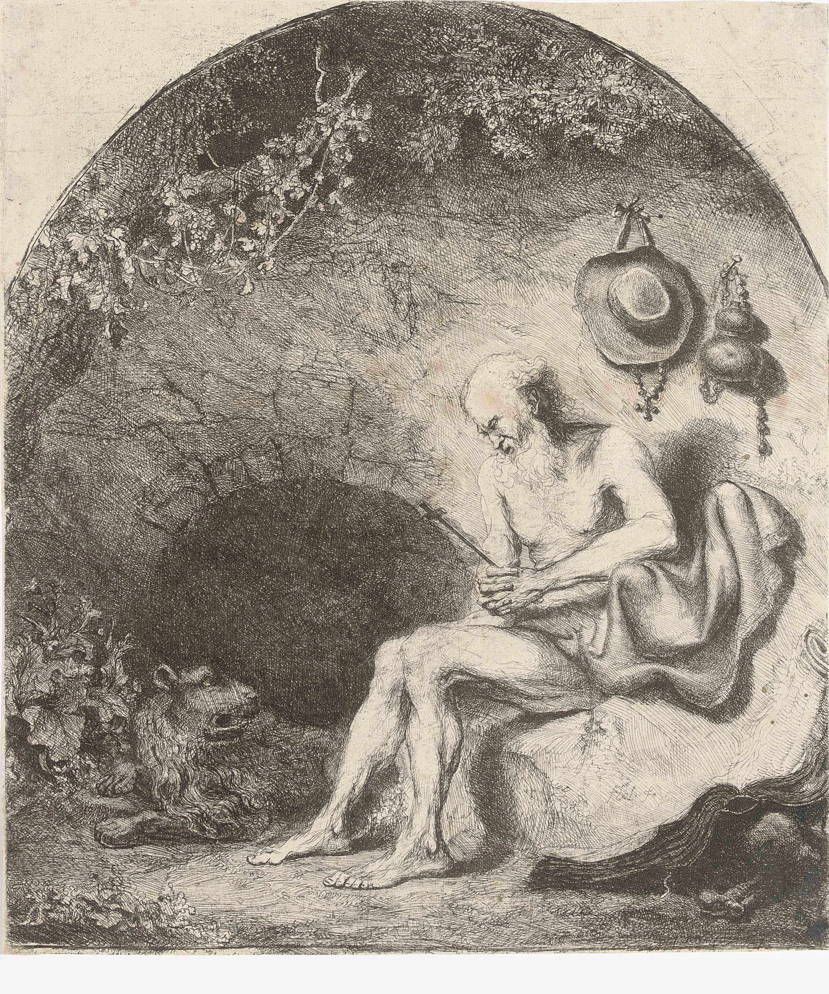 Saint Jerome in a Cave (Holl. 3)