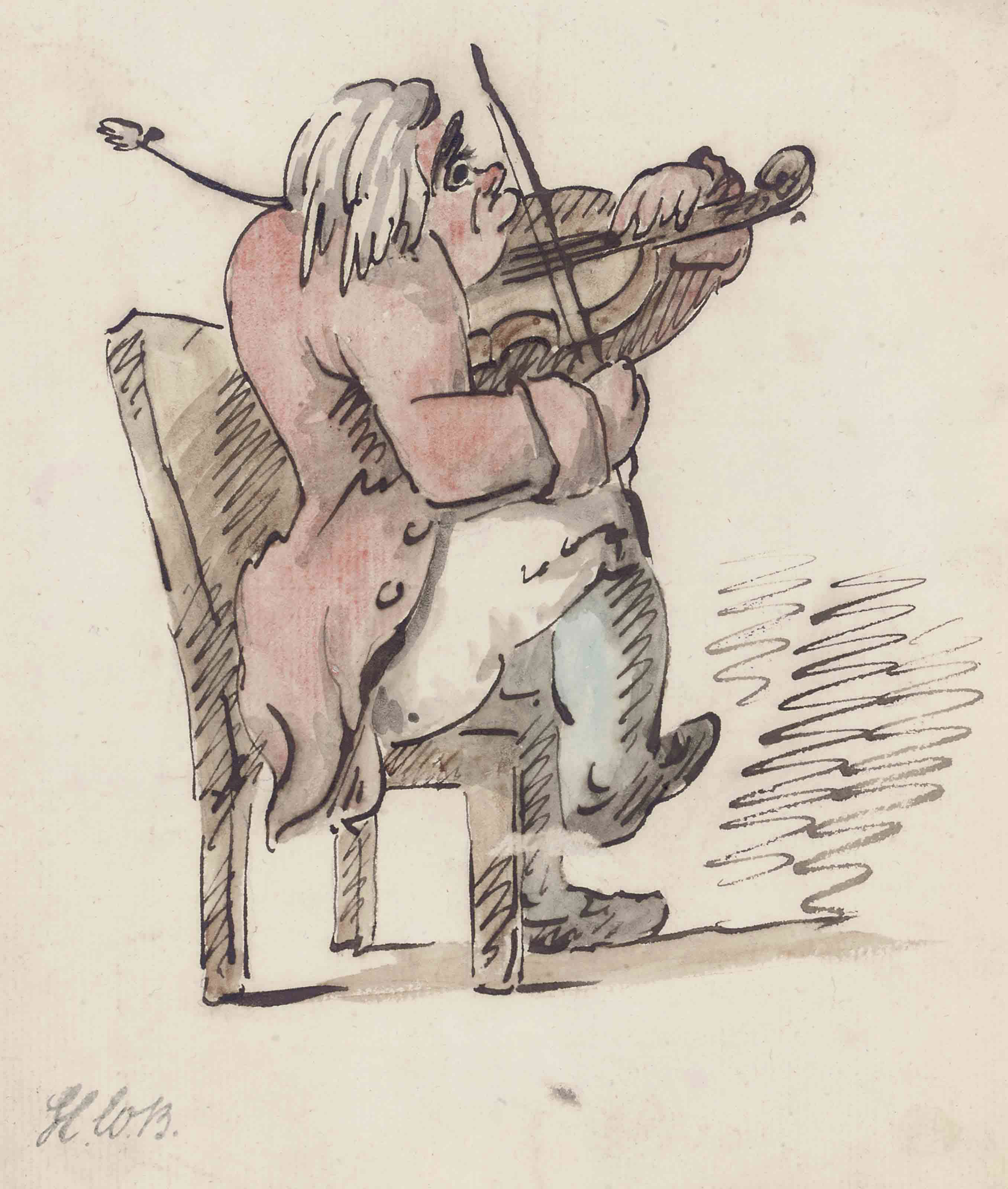 The violin player (illustrated); and Off to Handel's Oratio