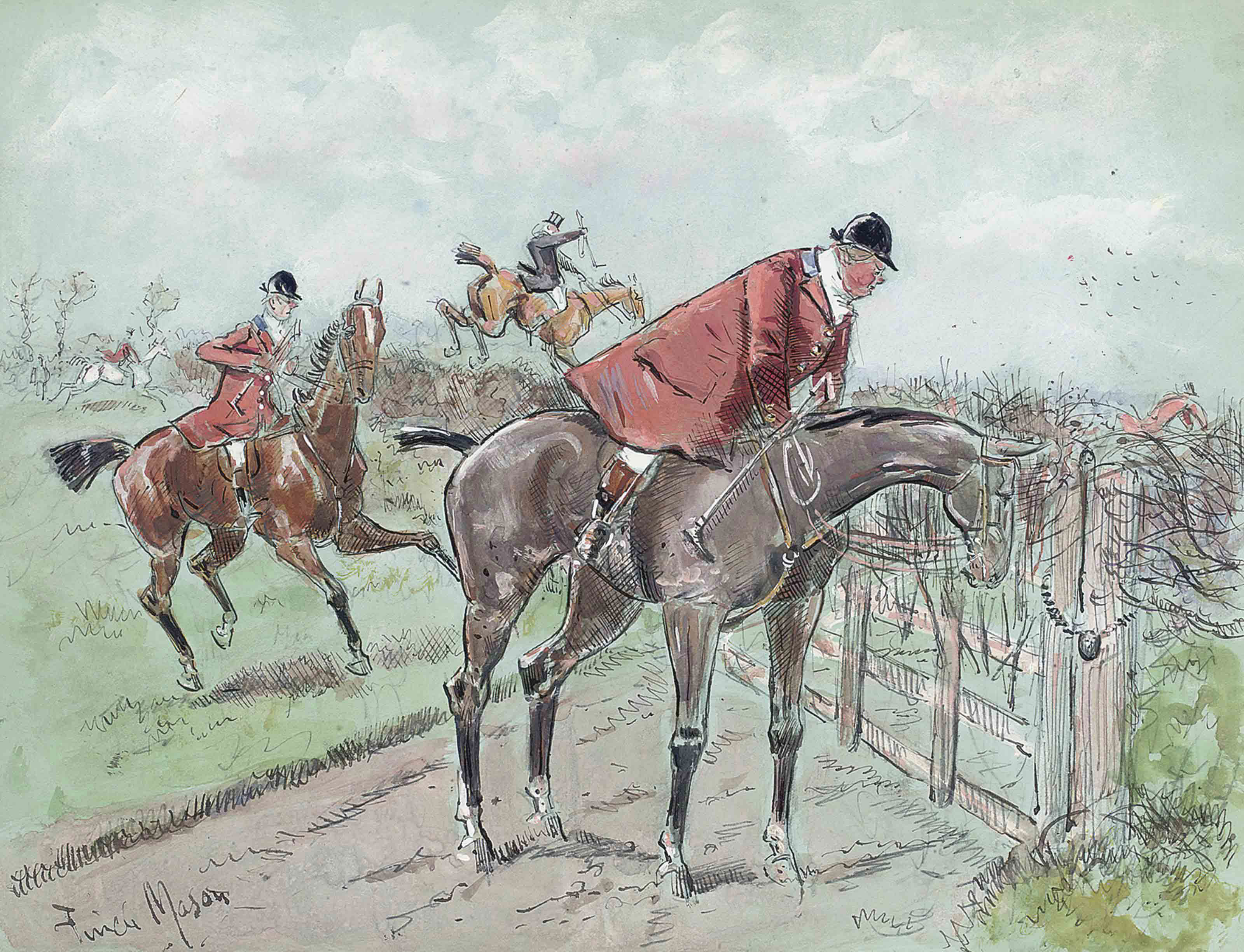'Hallo old boy'; The refusal (illustrated); and 'Too much familiarity breeds contemptory'