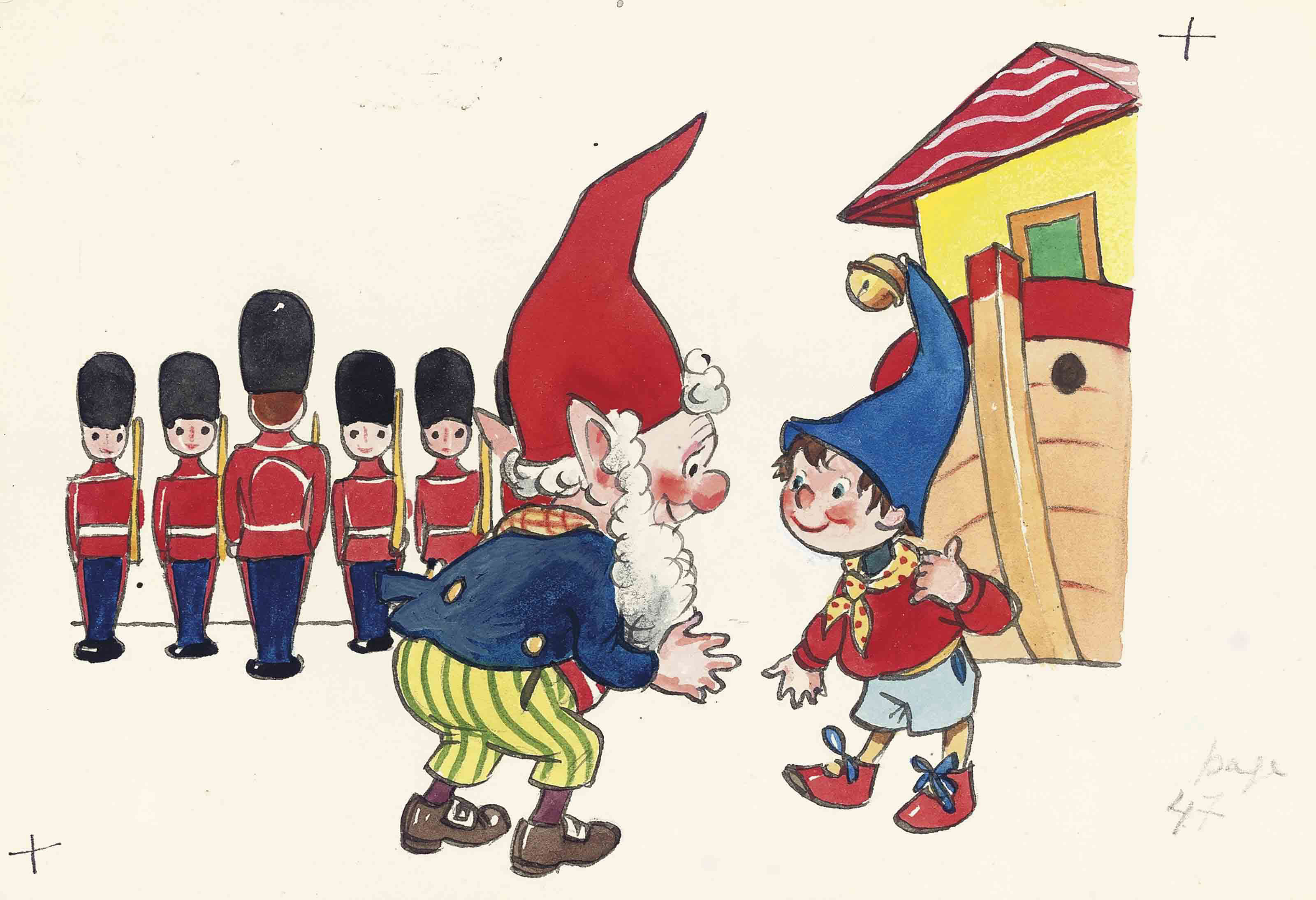 Noddy, Big-Ears and the soldiers