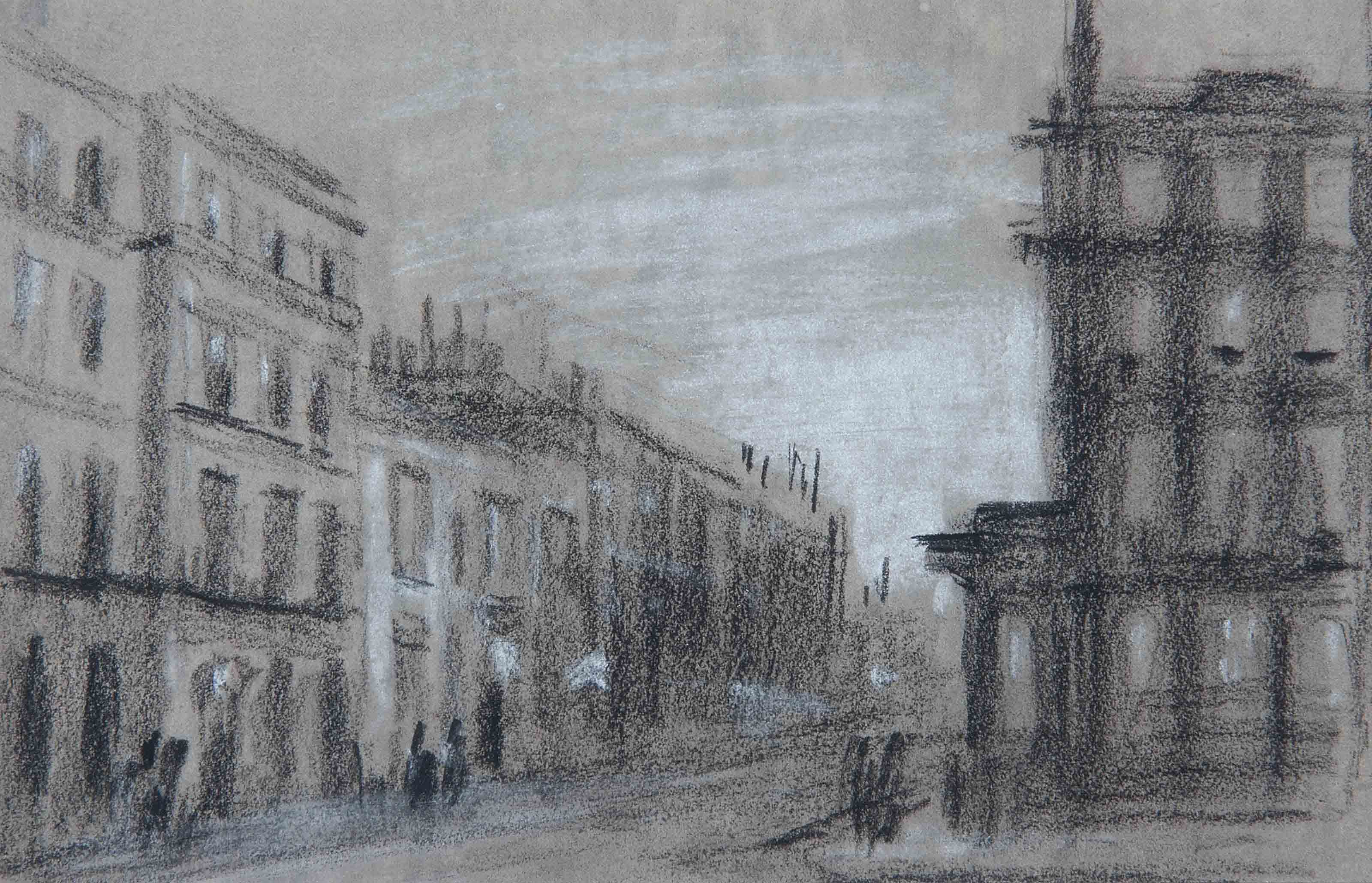 Pall Mall, London (illustrated); and A London street by lamplight