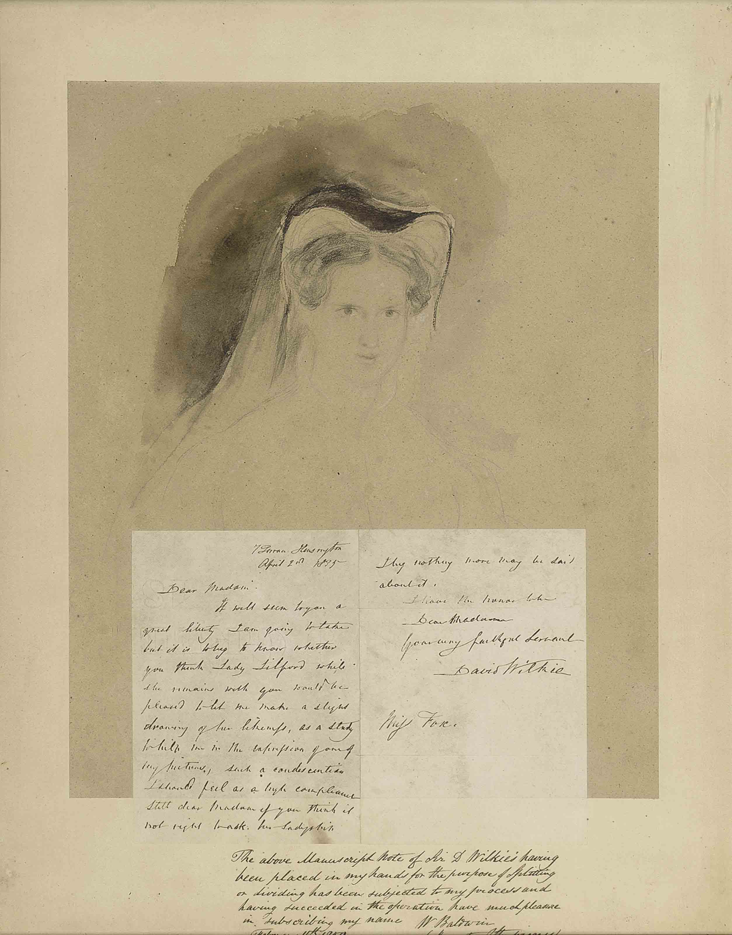 Portrait Study of Lady Lilford, née Mary Elizabeth Fox, as Mary Queen of Scots
