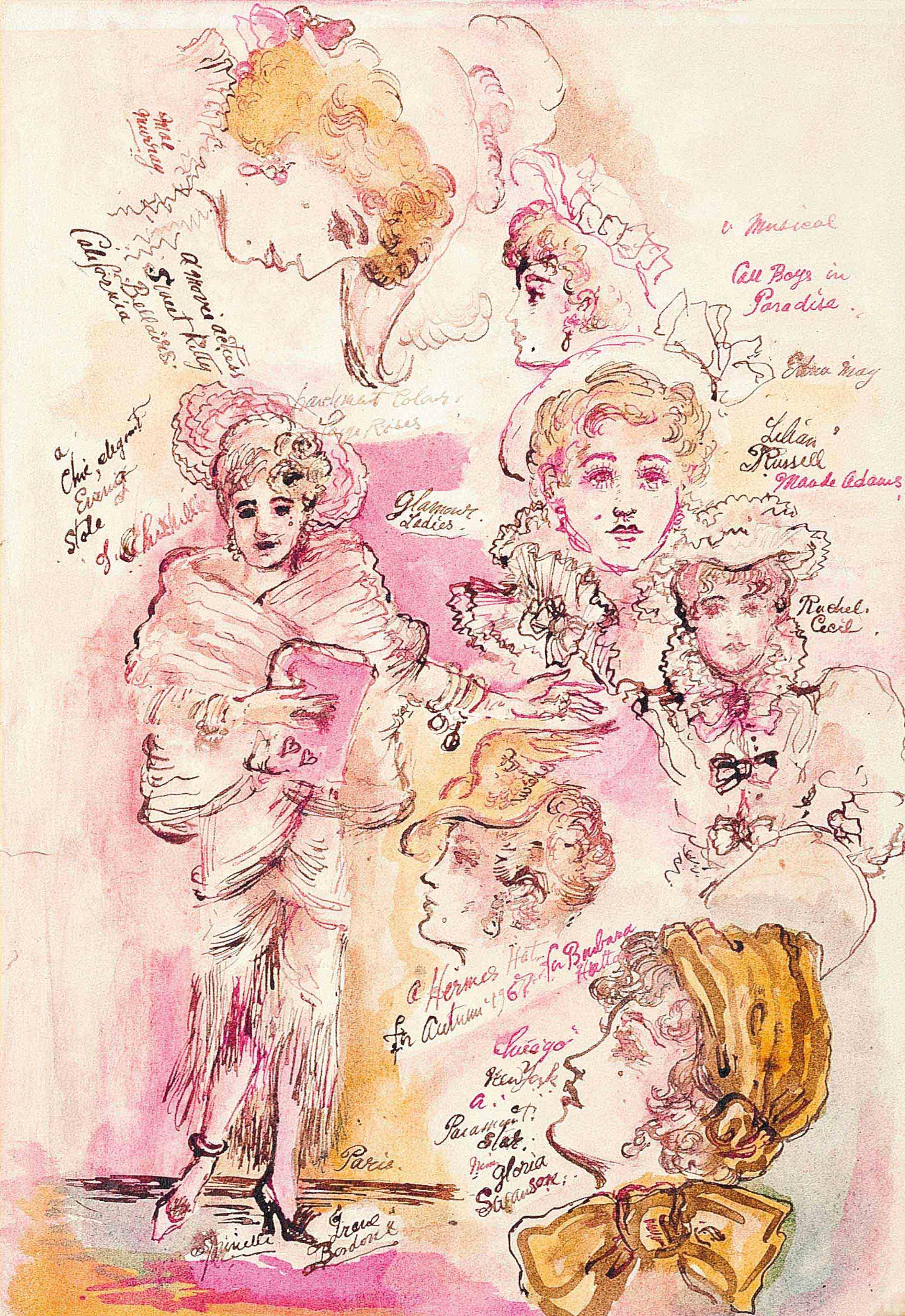 Studies of glamorous ladies