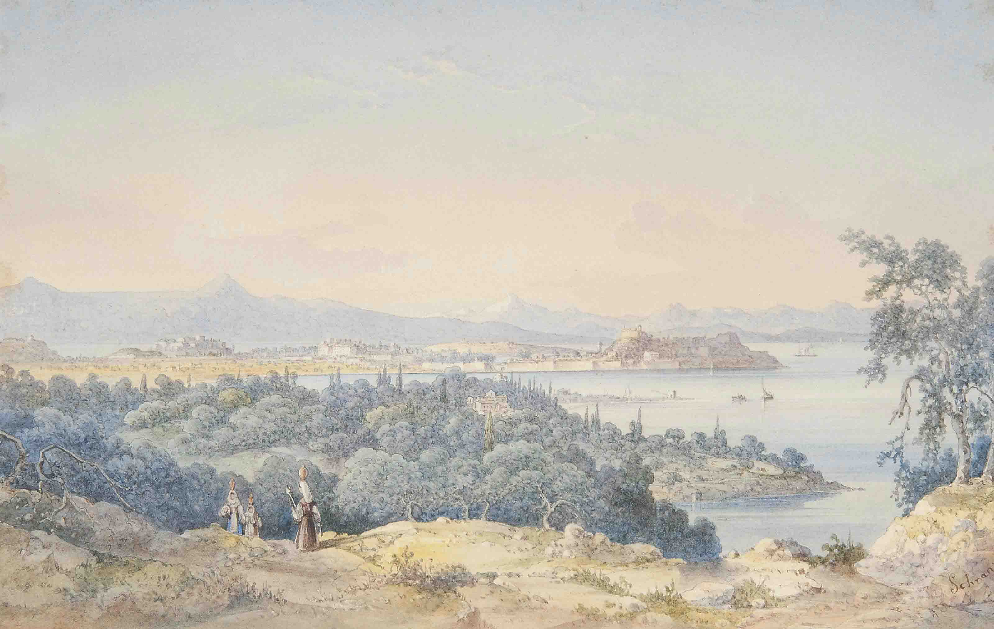 A view of Corfu taken from the south