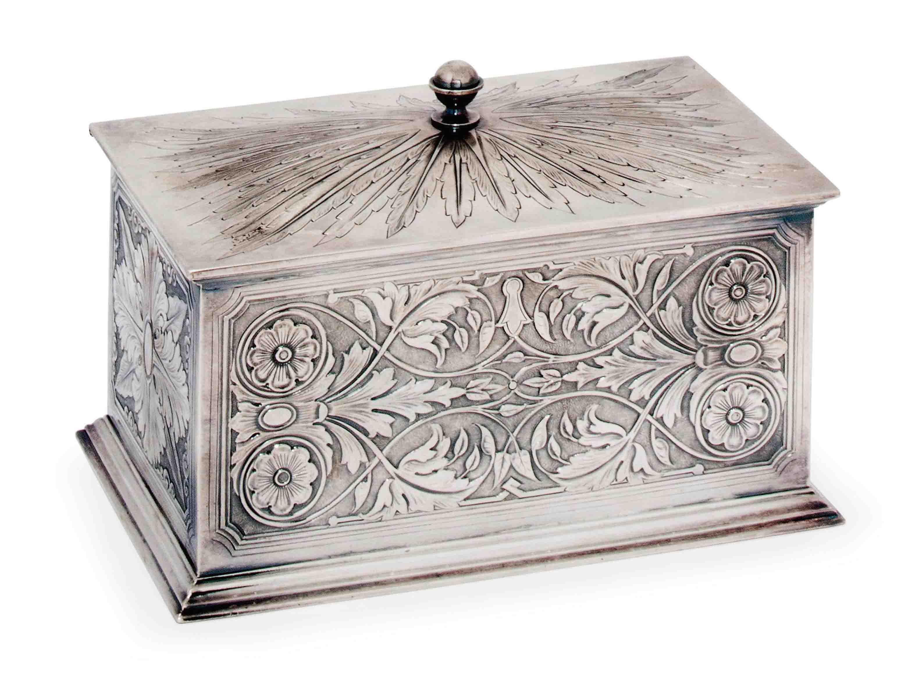 A VICTORIAN SILVER BISCUIT BOX