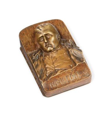 A FRENCH BRONZE BOX CAST WITH