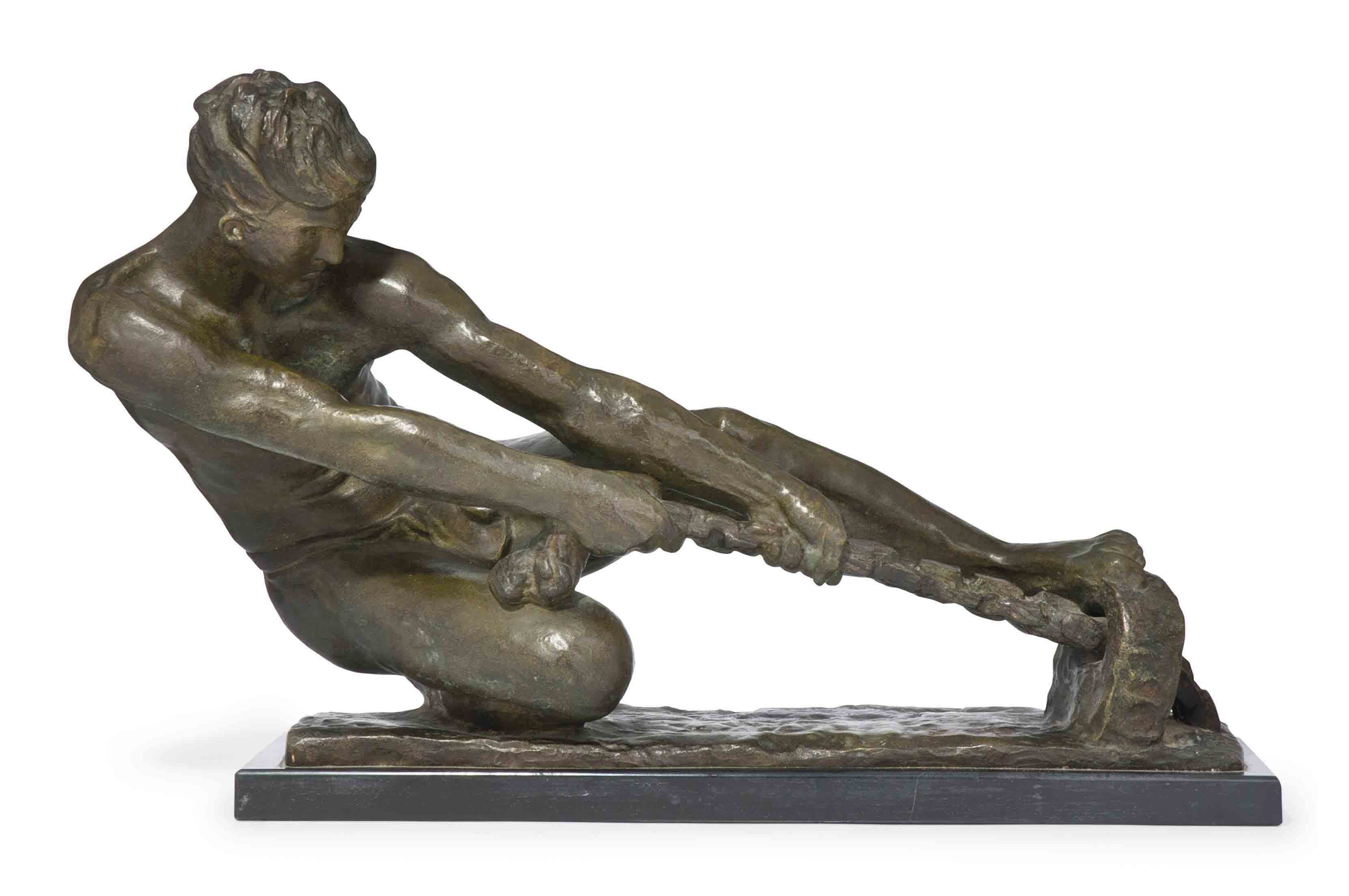 AN ALEXANDRE KELETY COLD-PAINTED BRONZE FIGURE