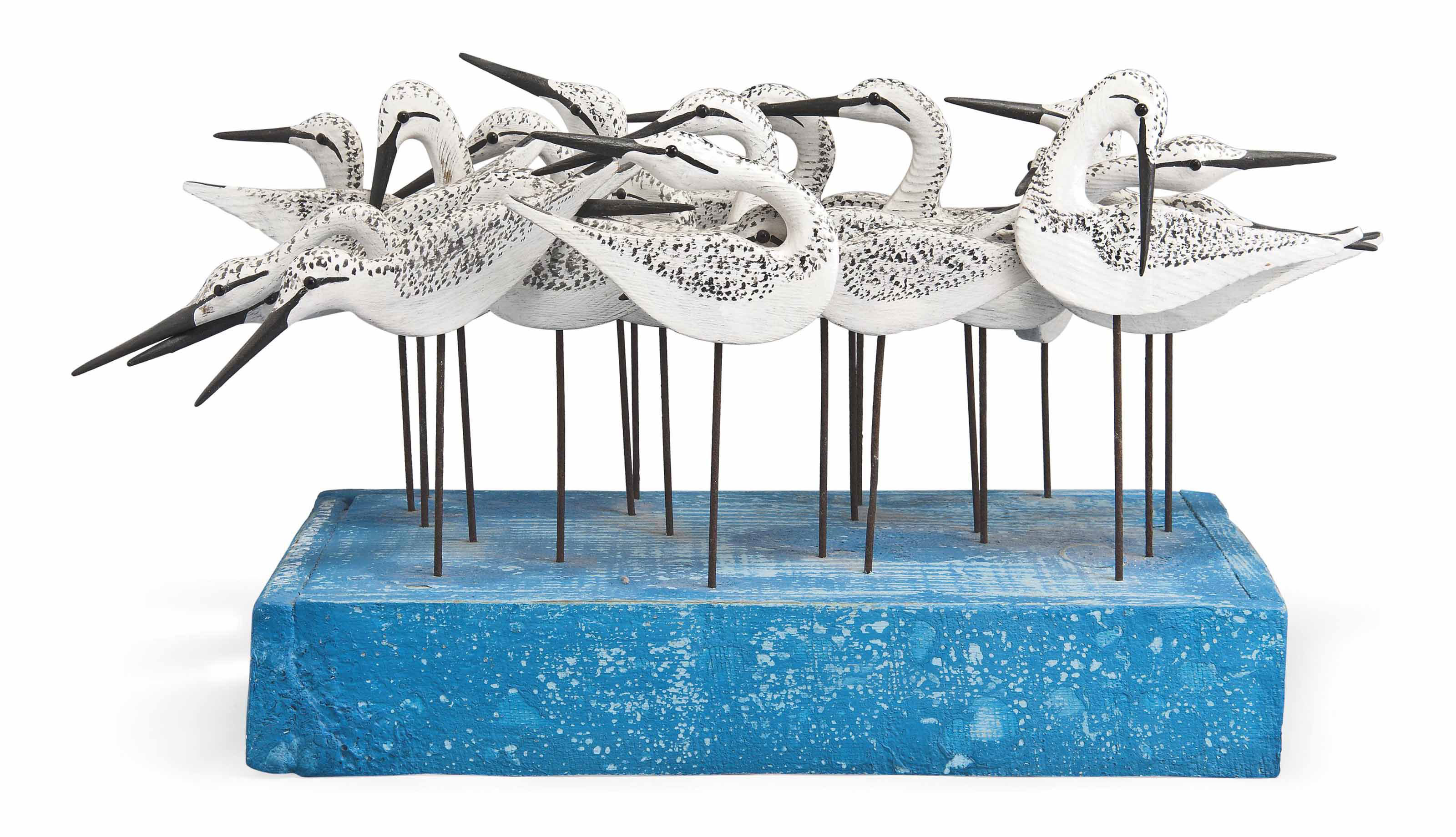 Twenty sanderling