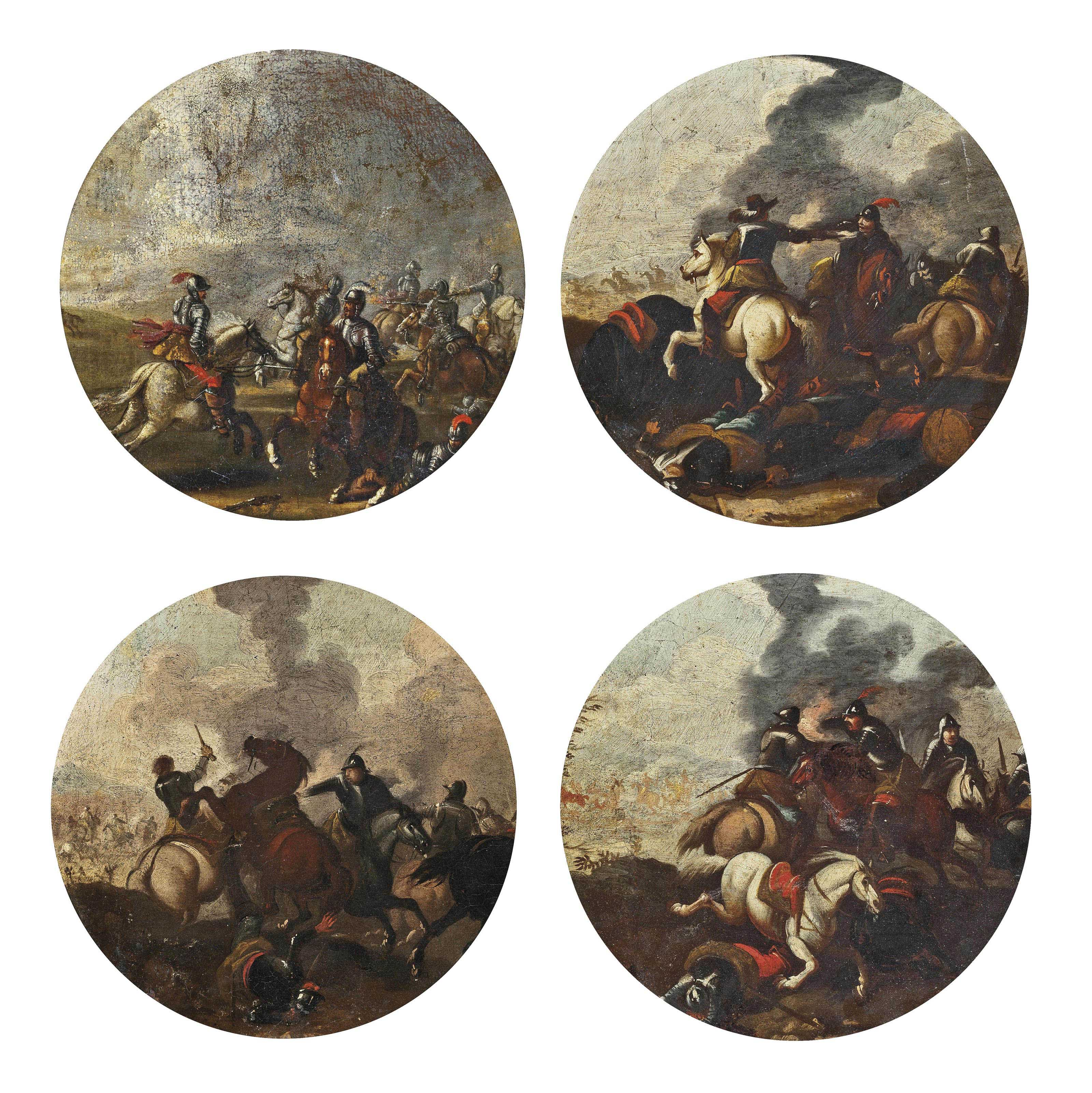 A set of four cavalry skirmishes